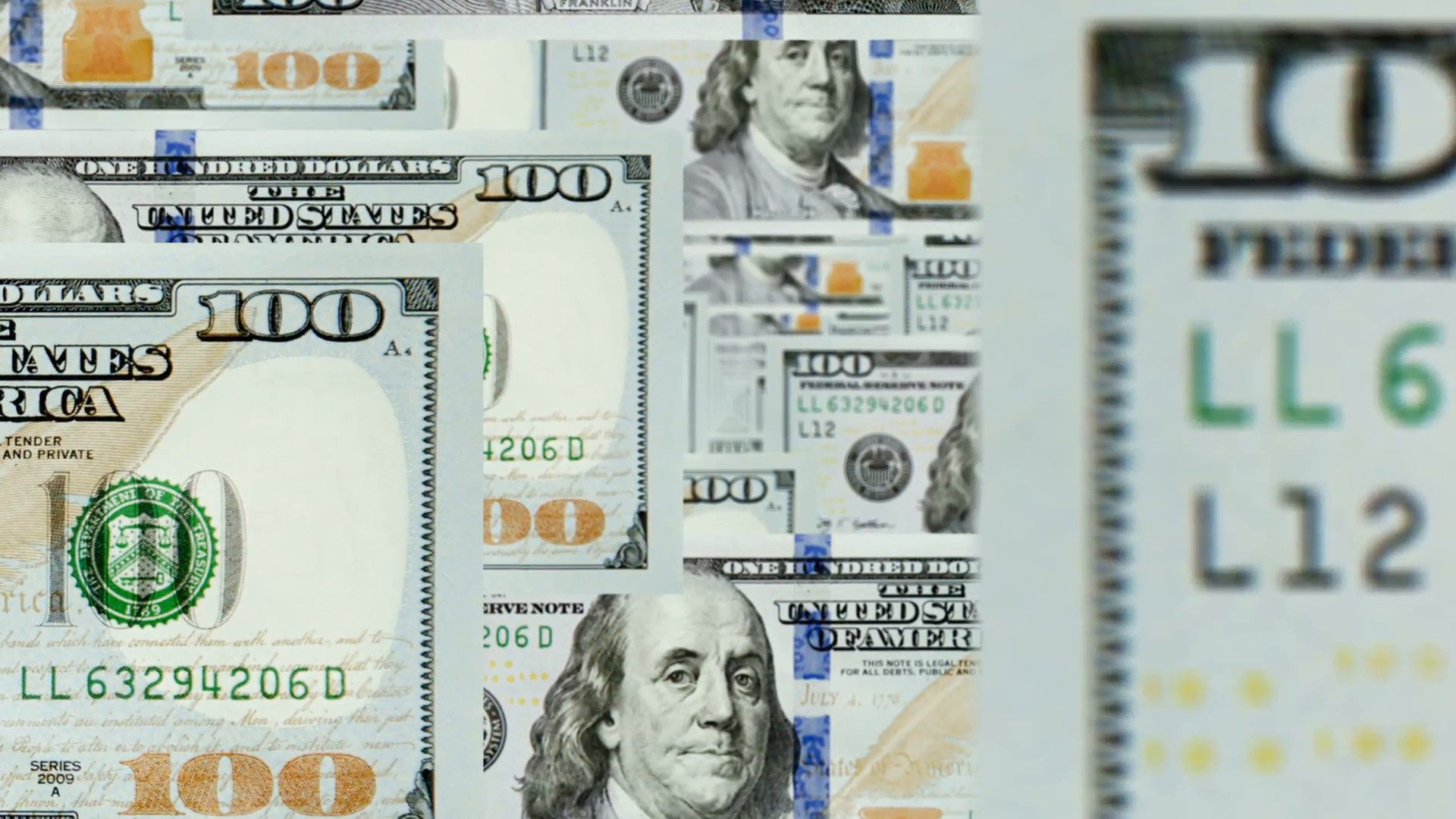 fly trhough new 100 dollar bills animation. perfect for background. Motion  Background – VideoBlocks