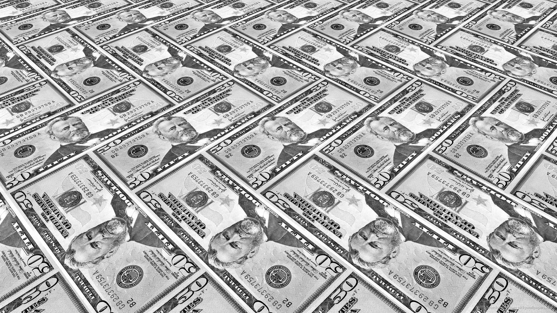 50 dollar bill pattern picture