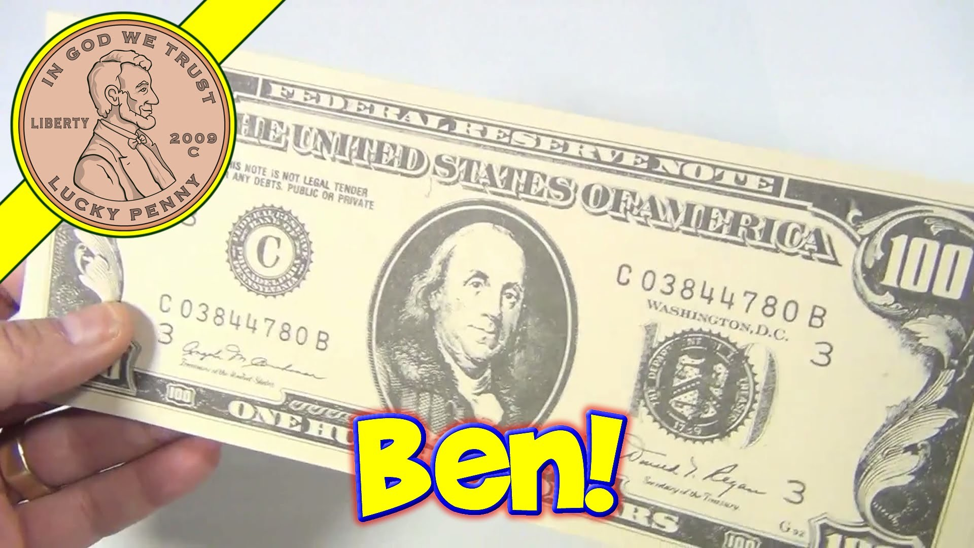 $100 Dollar Bills Benjamin Franklin Ruled Money Memo Desk Note Pads, 1990  Action Industries – YouTube