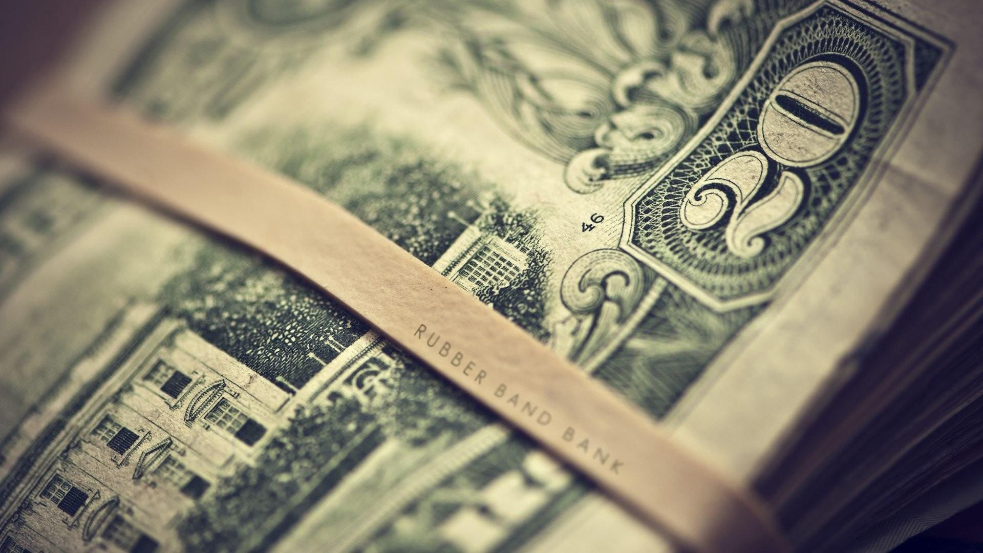 Depth Of Field Dollar Bills Money Twenty Bill