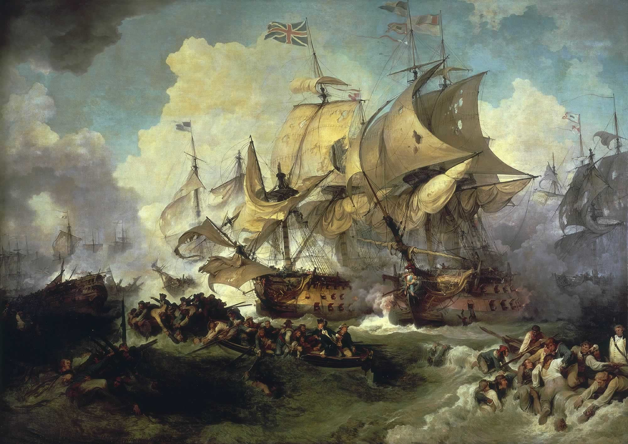 Revolutionary War Paintings   The Battle of the First of June, 1794