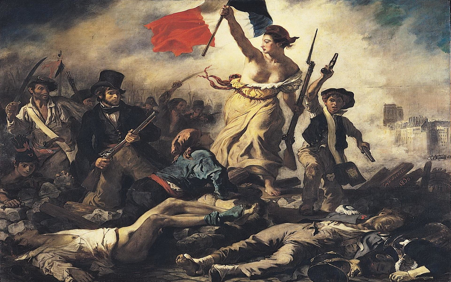 liberty-leading-the-people-eugene-delacroix-painting · French  RevolutionAmerican …