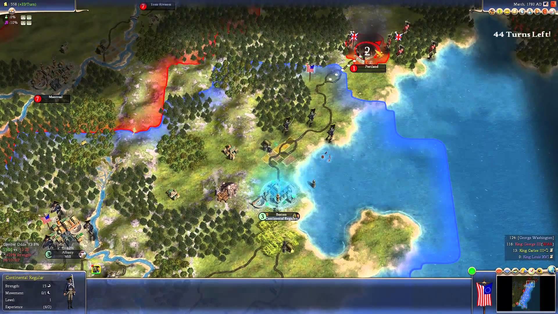 Civilization 4 – American Revolution Scenario: American Colonies