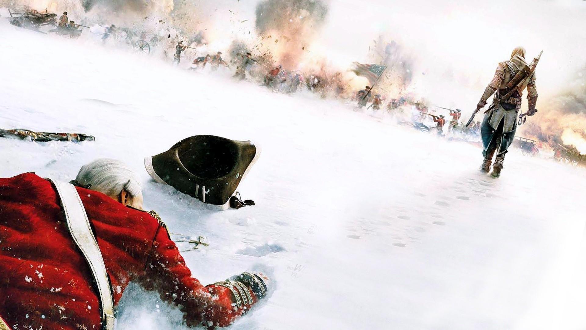 Assassins Creed 3 Battles Ignite Revolution Snow Winter …