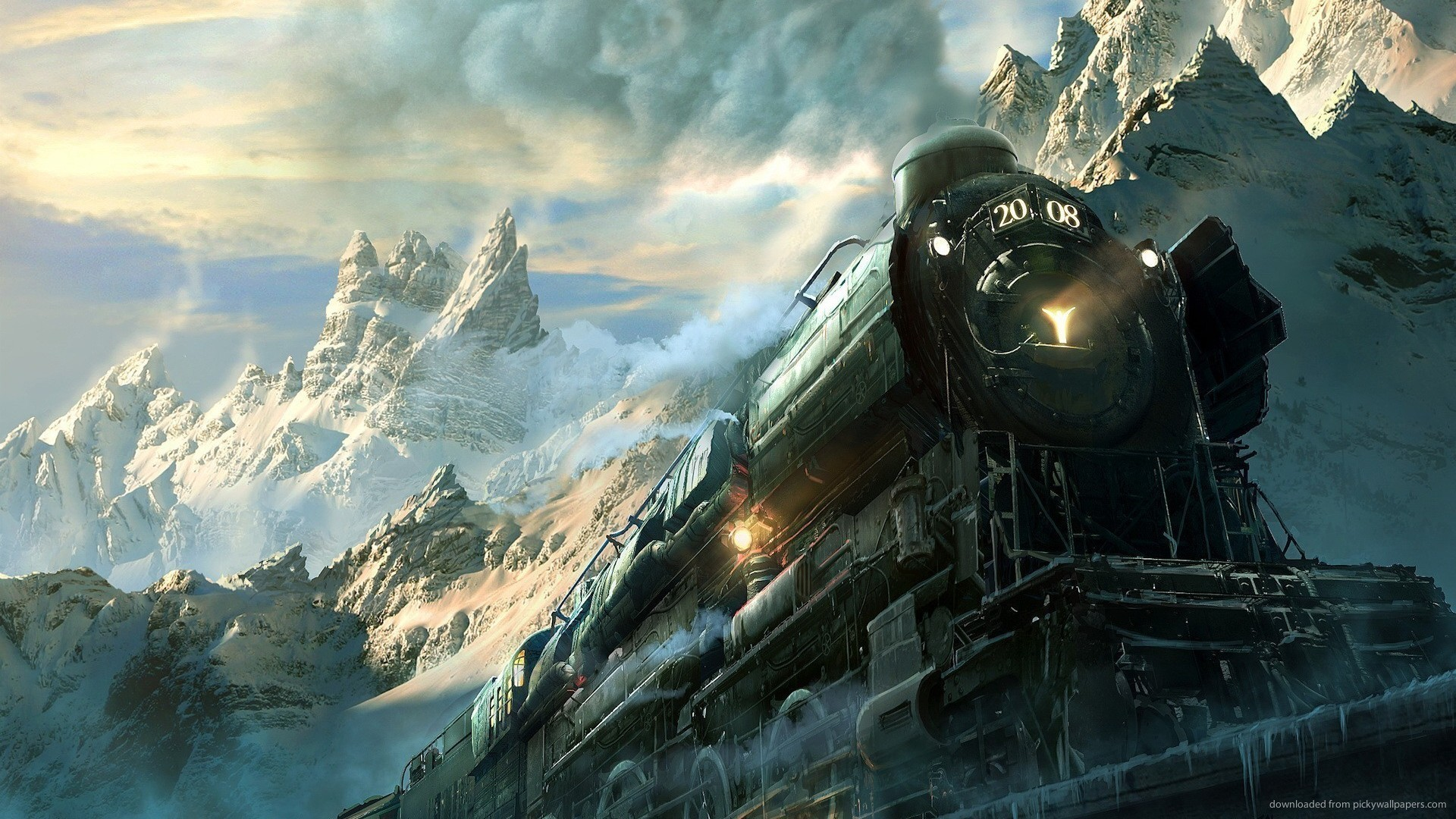 HD Epic Train Art Wallpaper