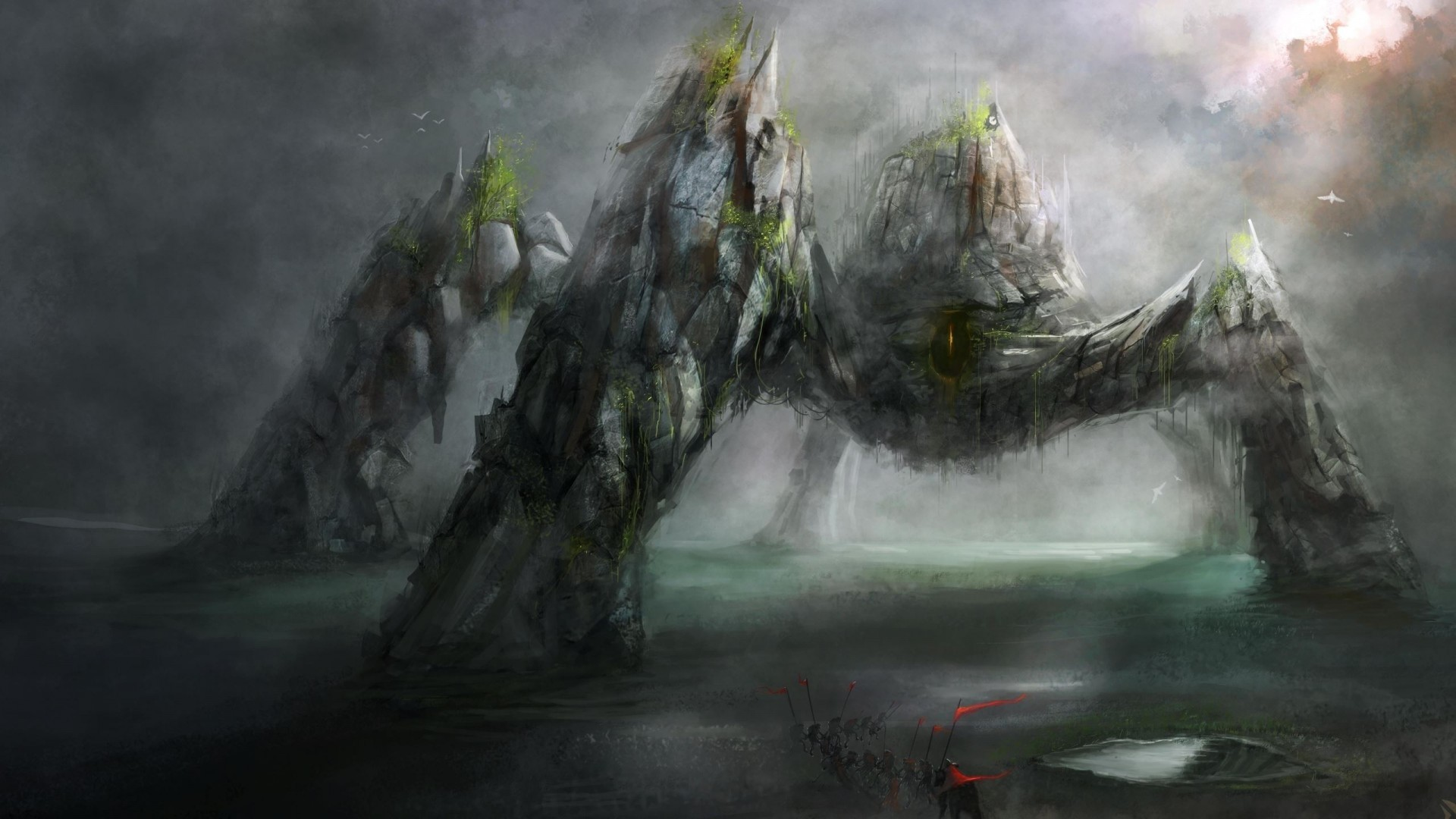 Stone Monster, Epic Battle (1080p) – Wallpaper – ImgPrix