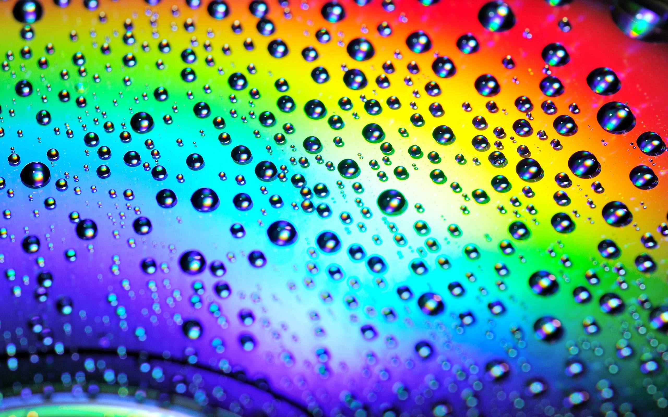 Rainbow Water Drops Wallpaper | Wallpaper Color