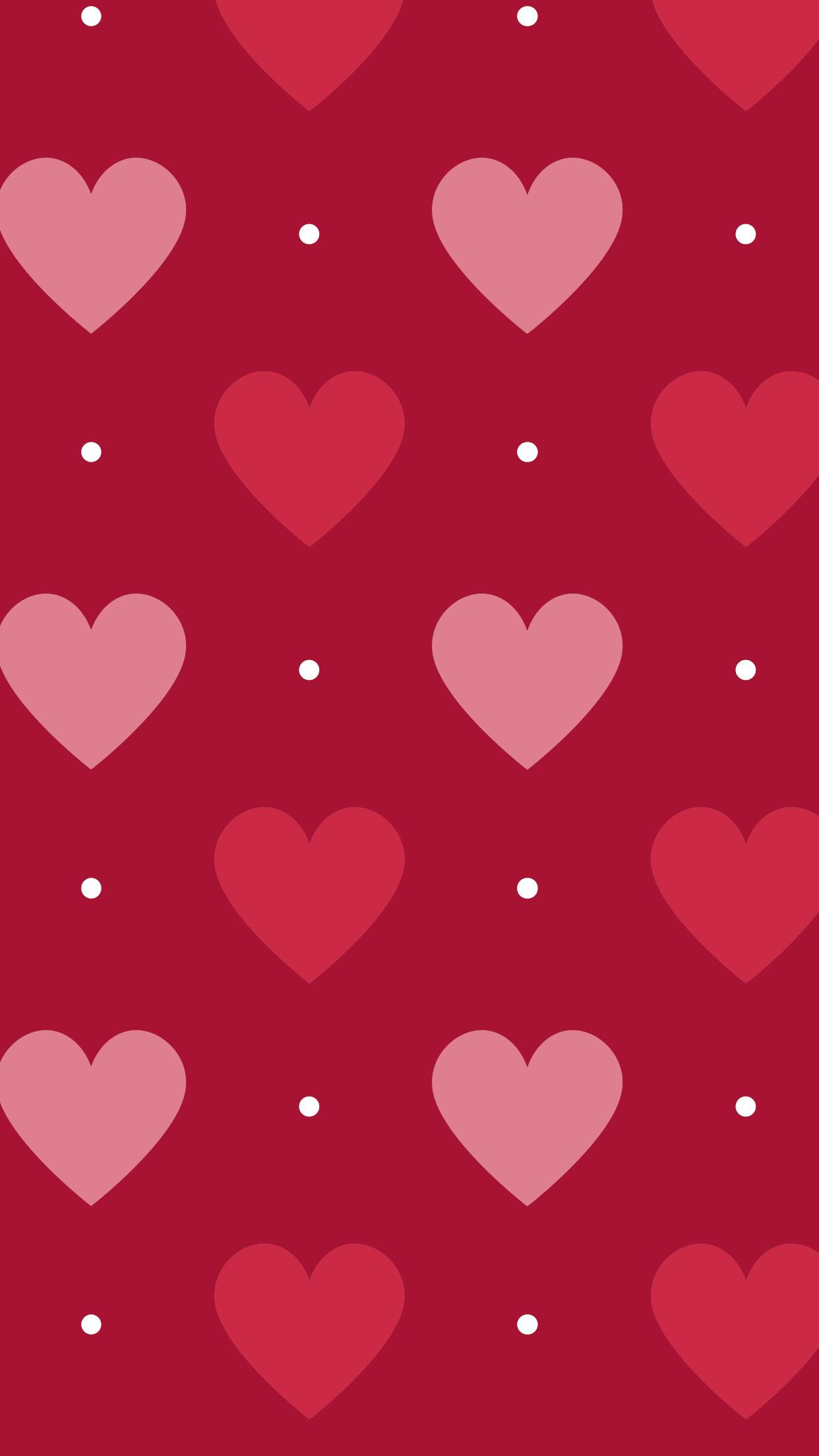 pink // red // hearts // polka dots