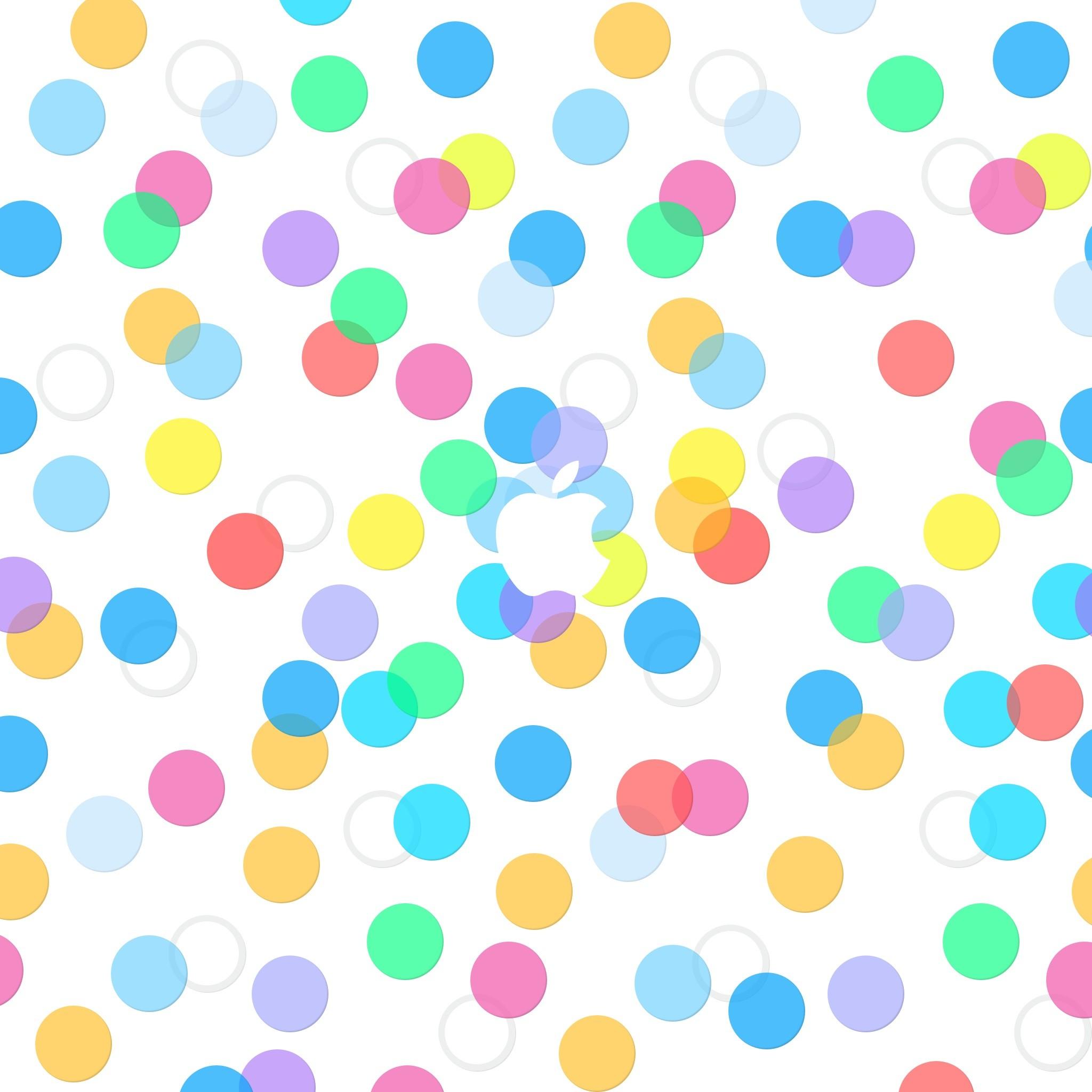 Apple Logo Colorful Dots Pattern iPad Wallpaper HD
