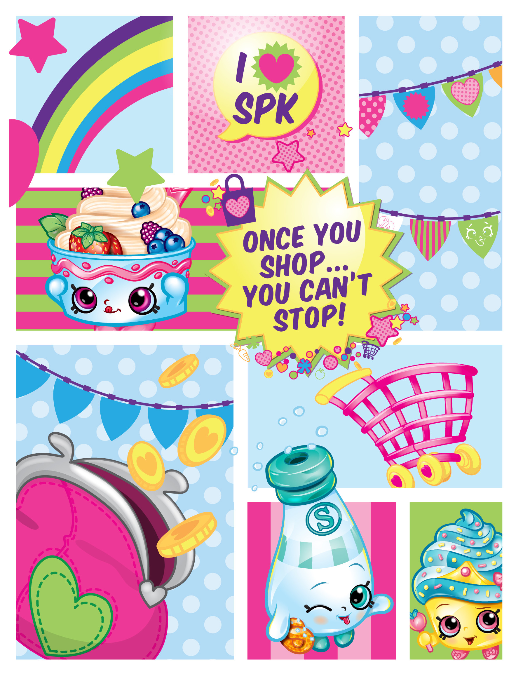 Free all the shopkins coloring pages