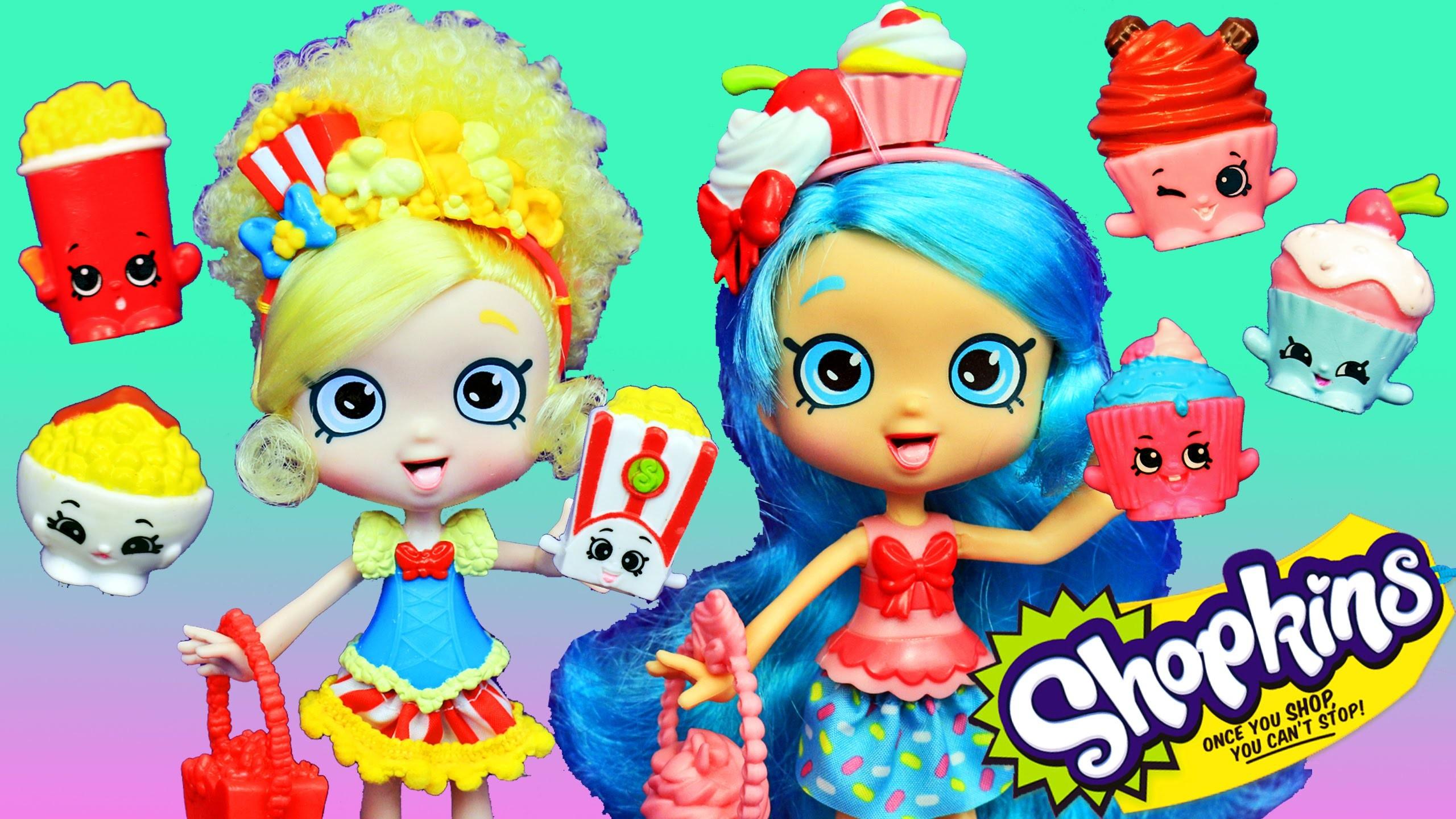 NEW SHOPKINS DOLLS!!! Shoppies Jessicake & Popette Season 4 New Toys +  Peppa Pig & Elsa – YouTube