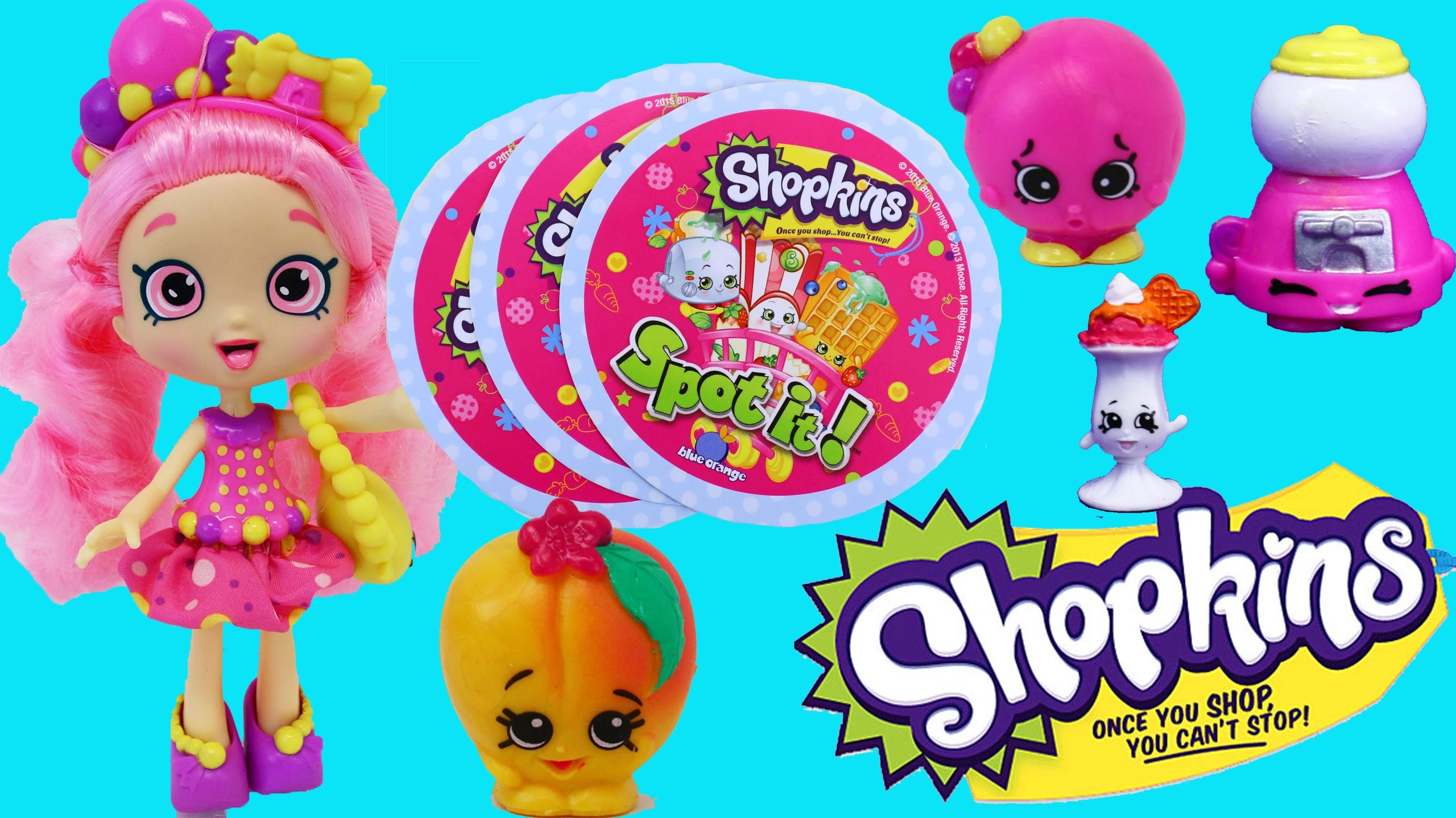 Shopkins Spot It Game Challenge & NEW Shopkins Shoppies Dolls & Surprise  Toys 12-Pack – YouTube