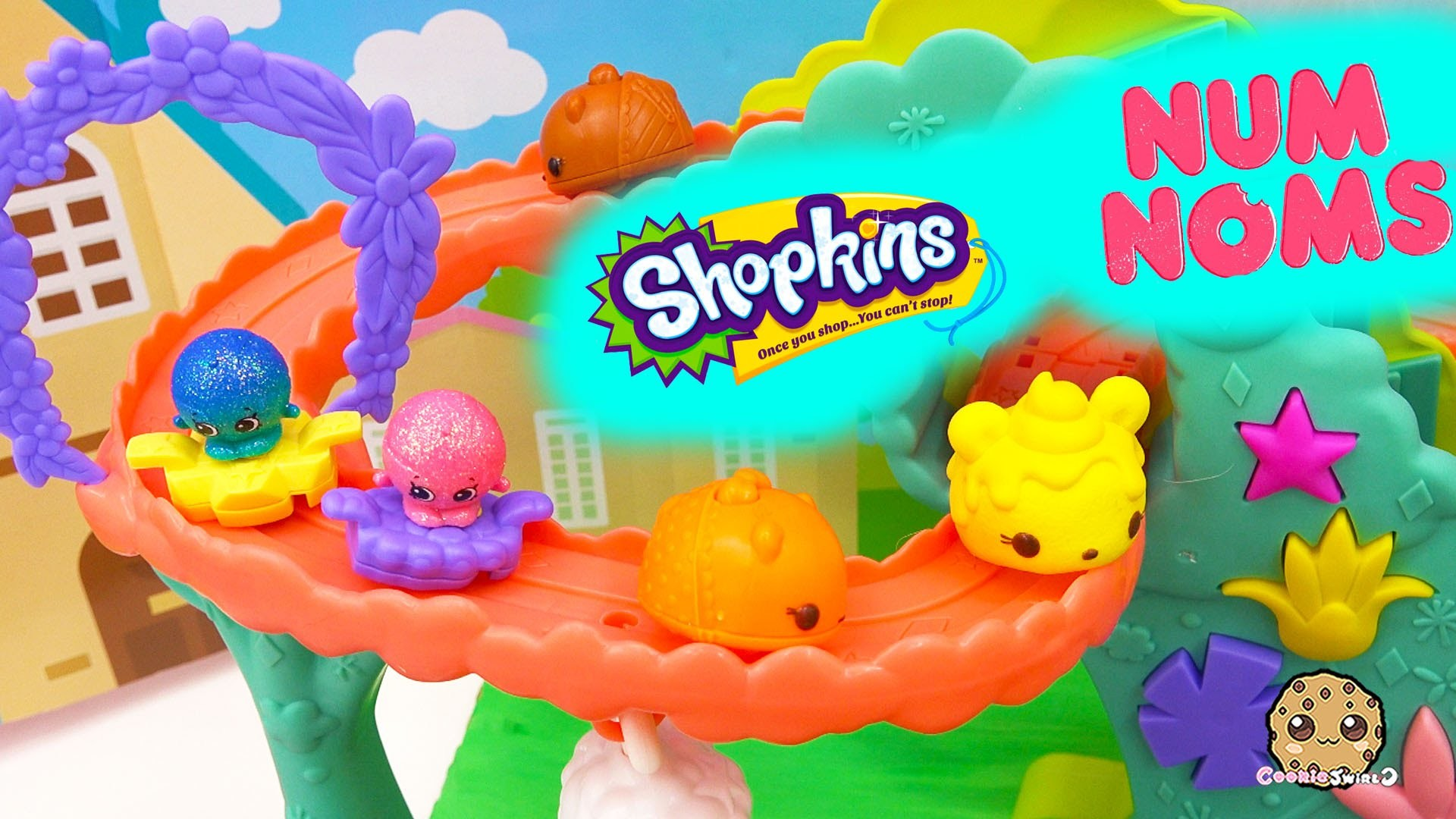 Shopkins Season 4 Meet Num Noms and Ride On Rollercoster – Play Video  Cookieswirlc – YouTube