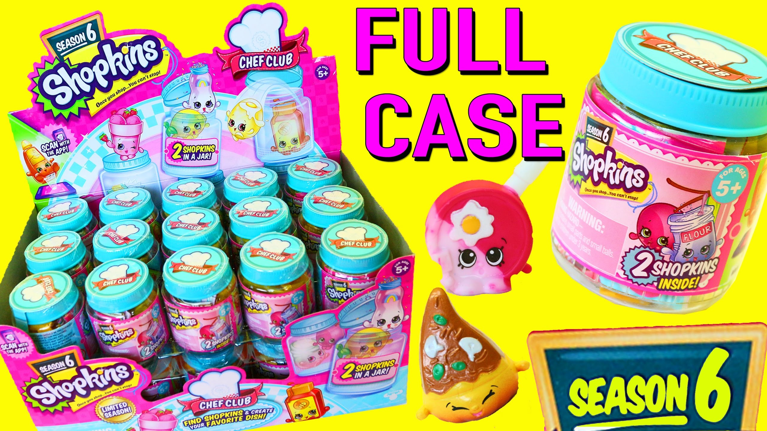 Shopkins SEASON 6 ENTIRE CASE of NEW Chef Club COLOR CHANGE Toys & Changing  Recipes DisneyCarToys – YouTube