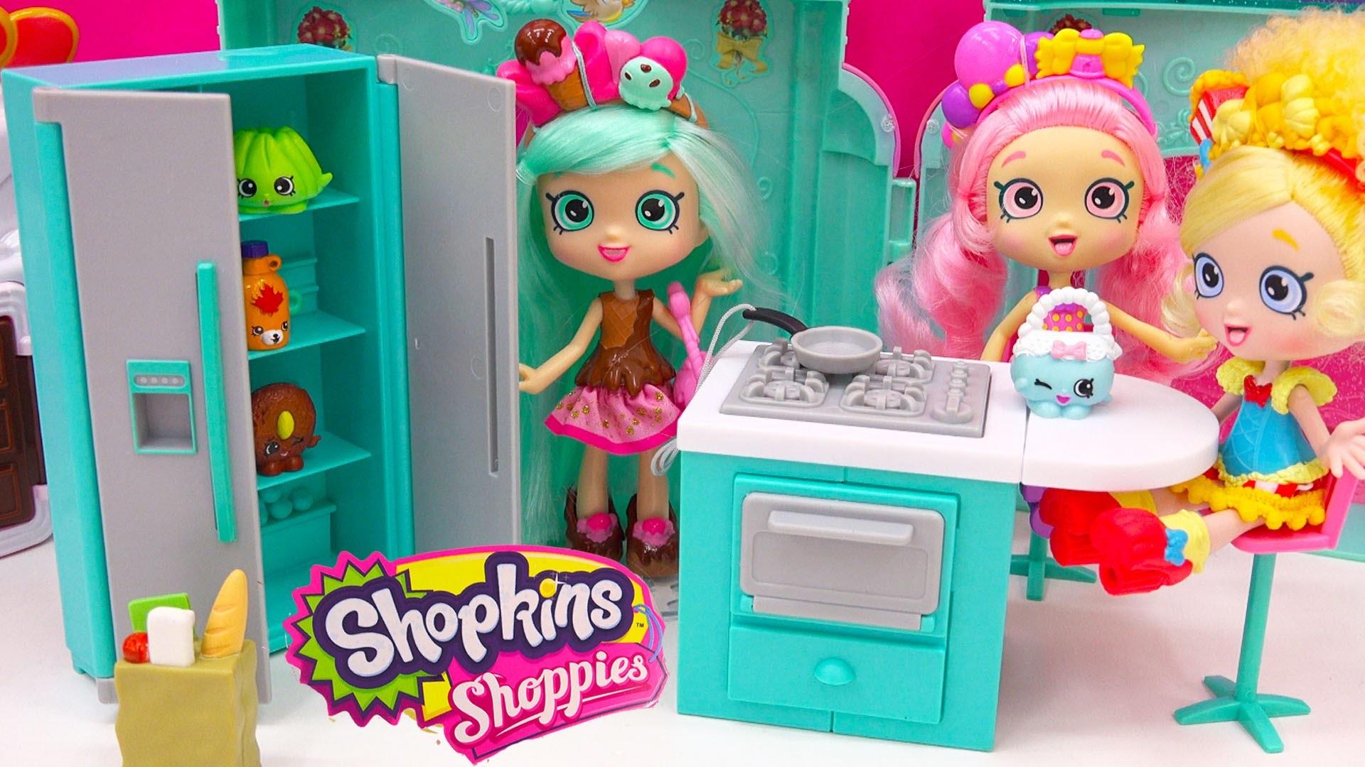 Shoppies Peppa Mint Fridge, Oven, Kitchen with Shopkins Season 4 Blind Bag  Unboxing – Cookieswirlc – YouTube