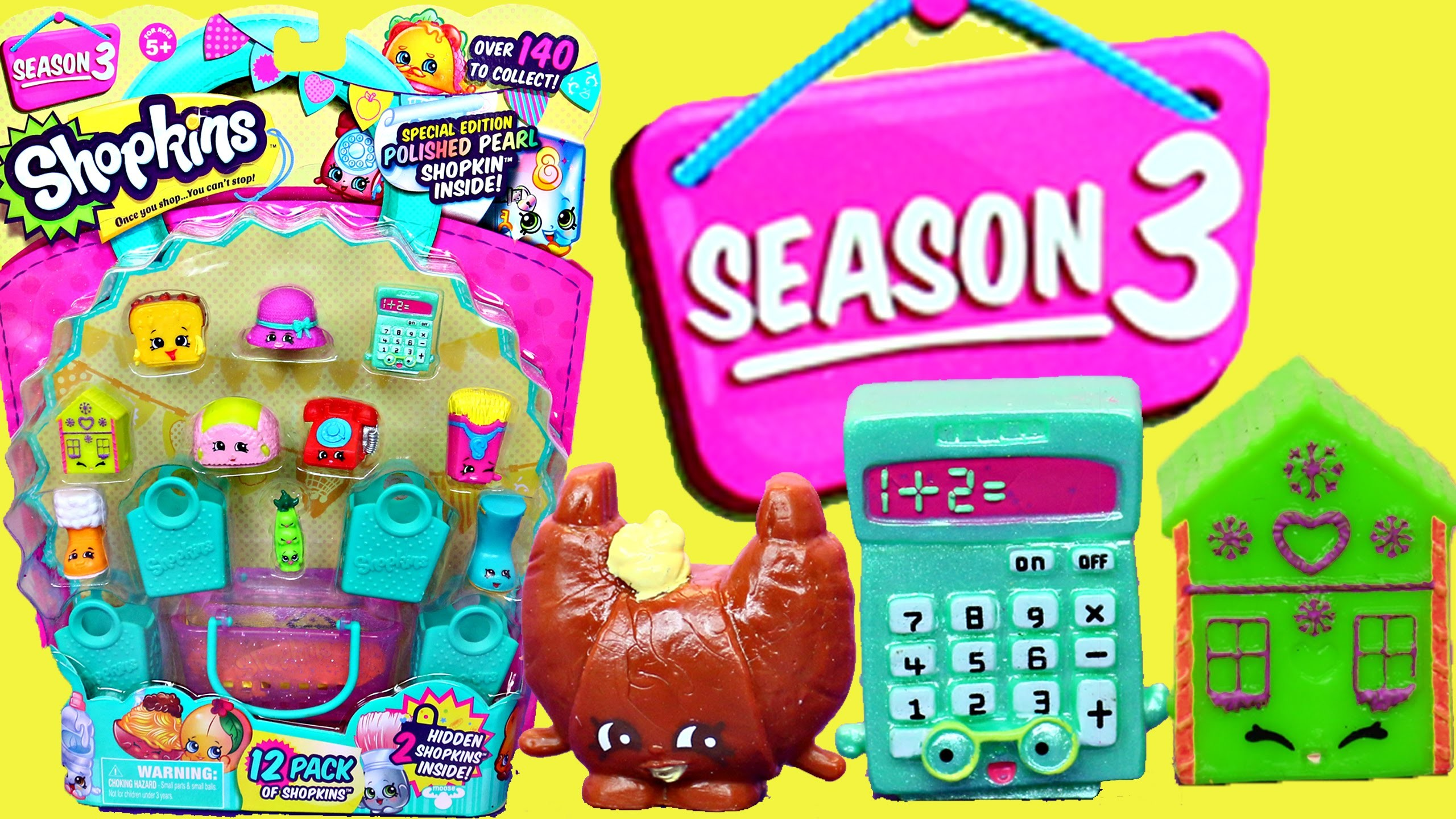 Shopkins Season 3 Unboxing of Surprise Toys with Blind Baskets and Blind  Bags with DisneyCarToys – YouTube