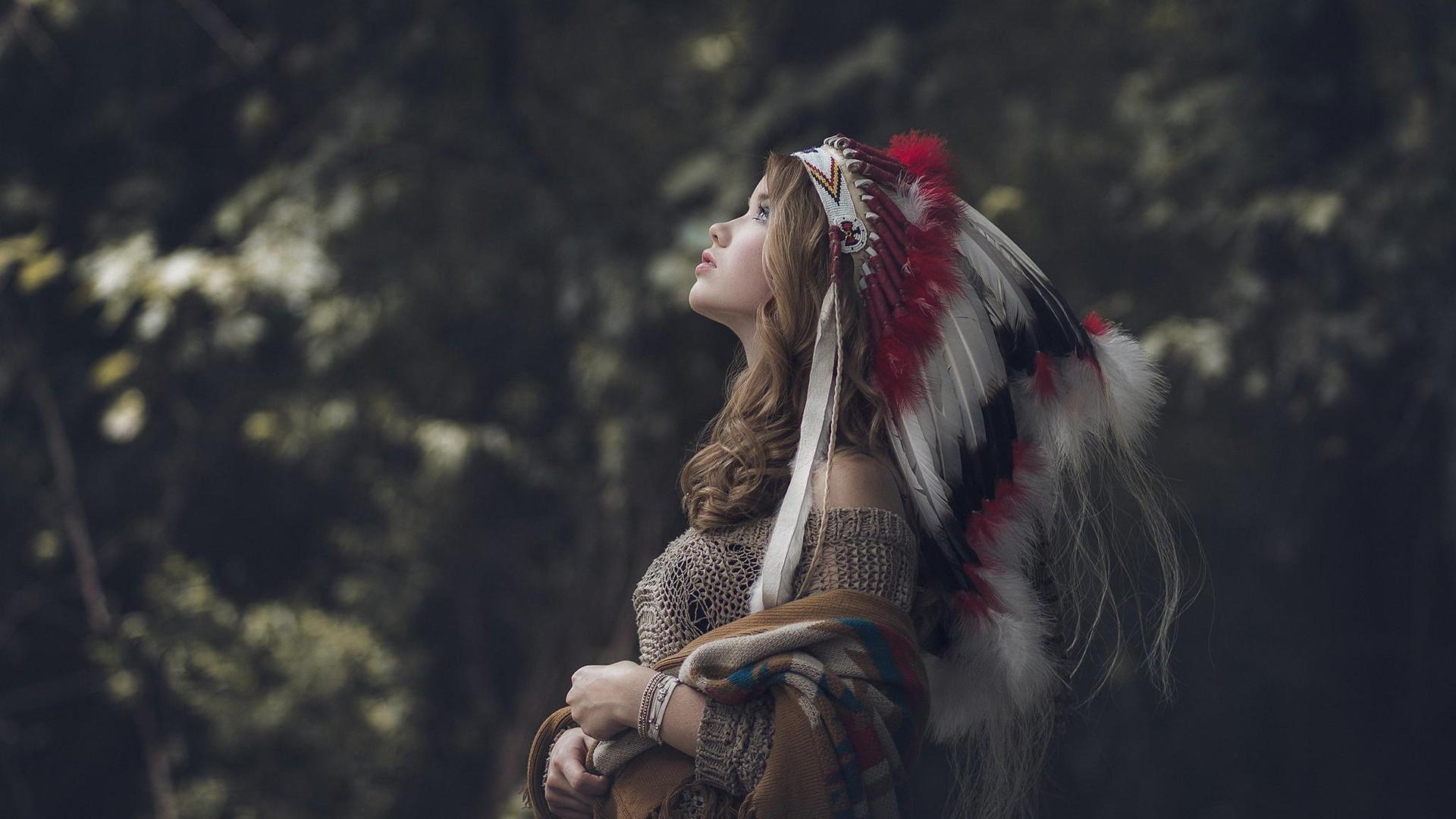 … wallpapers native american wallpaper; native american brunettes nature  headdress walldevil …