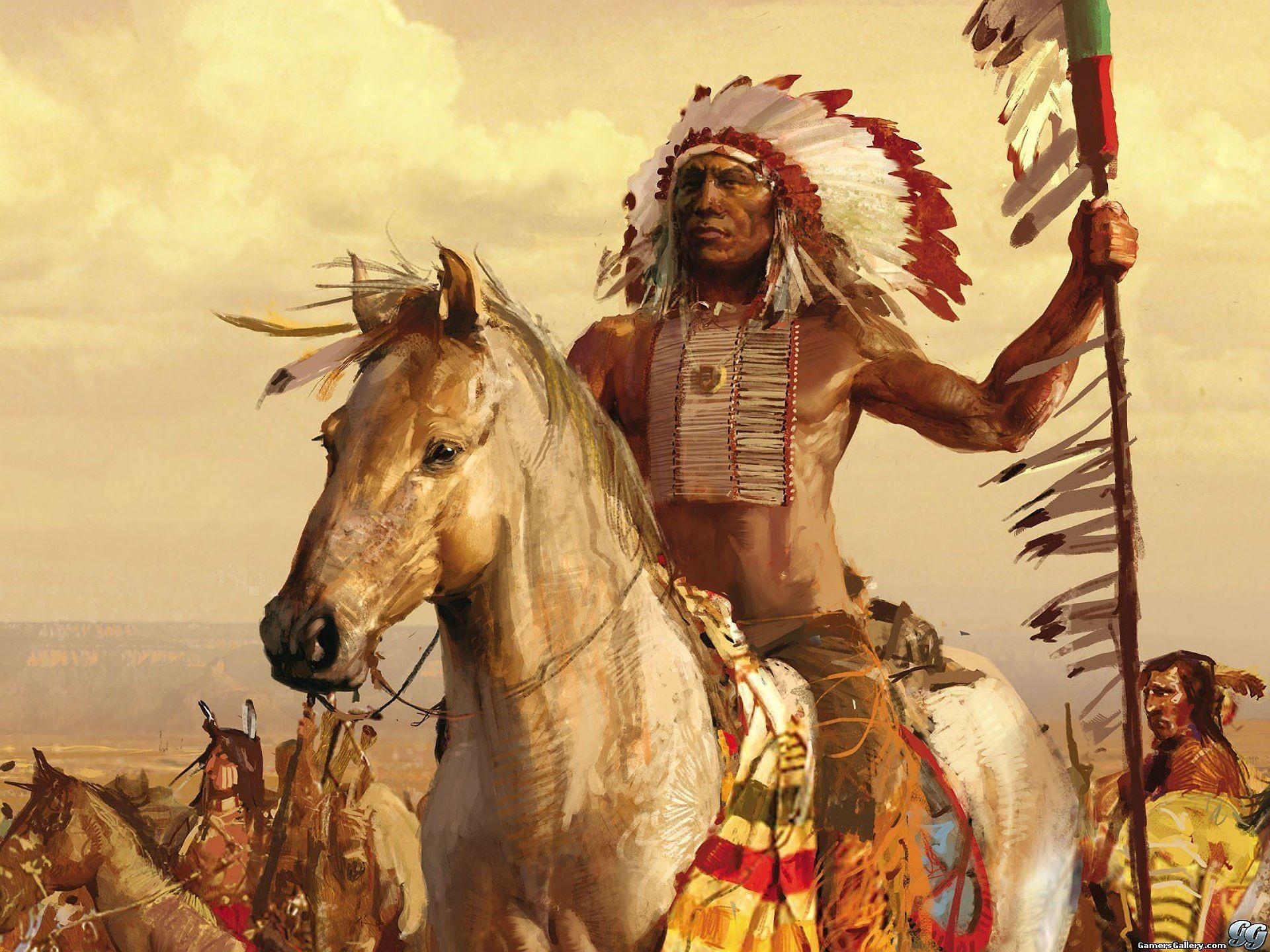 Native American Warrior Wallpaper