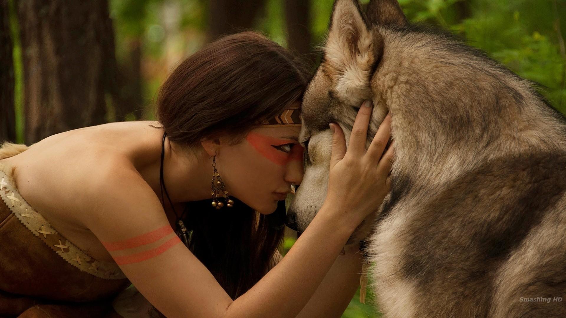 #Native #American #Fantasy #Wolf #Girls 1920×1080 http:/