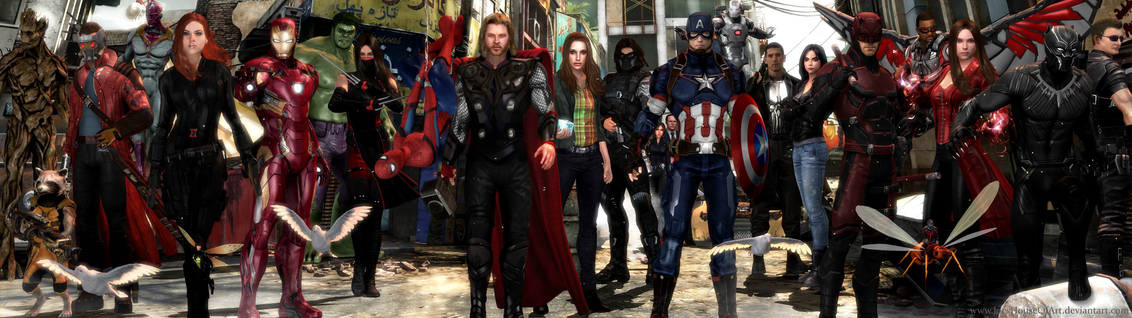 … Avengers MCU – Dual Screen Wallpaper by ShaunsArtHouse