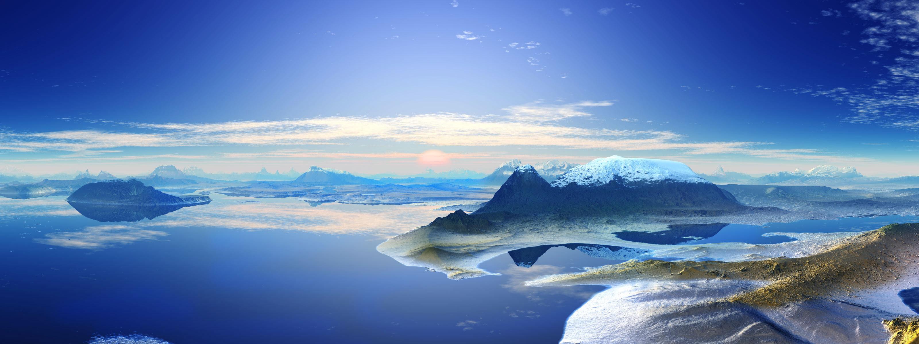 Antarctica Mountain Backgrounds   dual monitor wallpaper-wallpaper