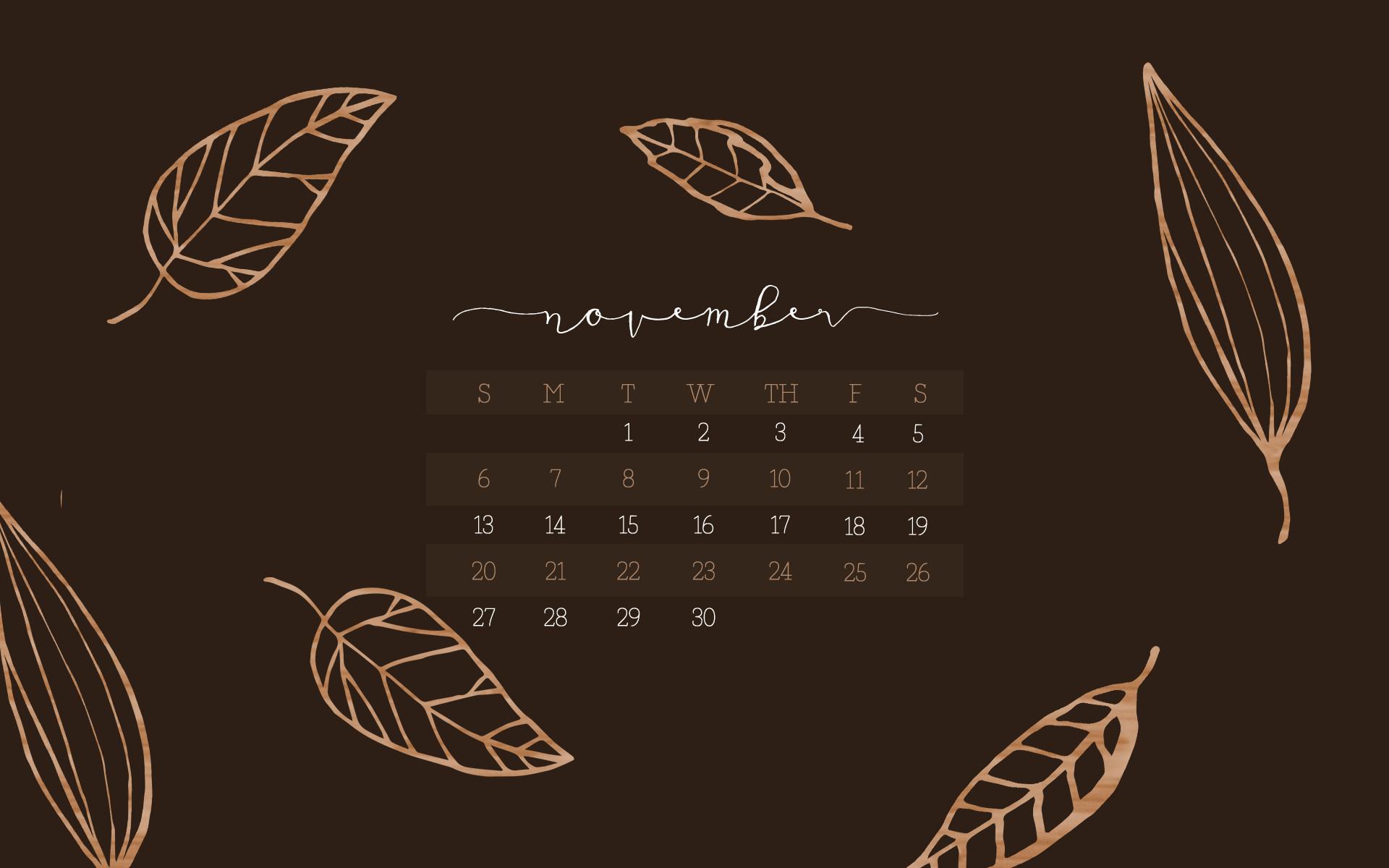 Download Your November Calendar Wallpaper