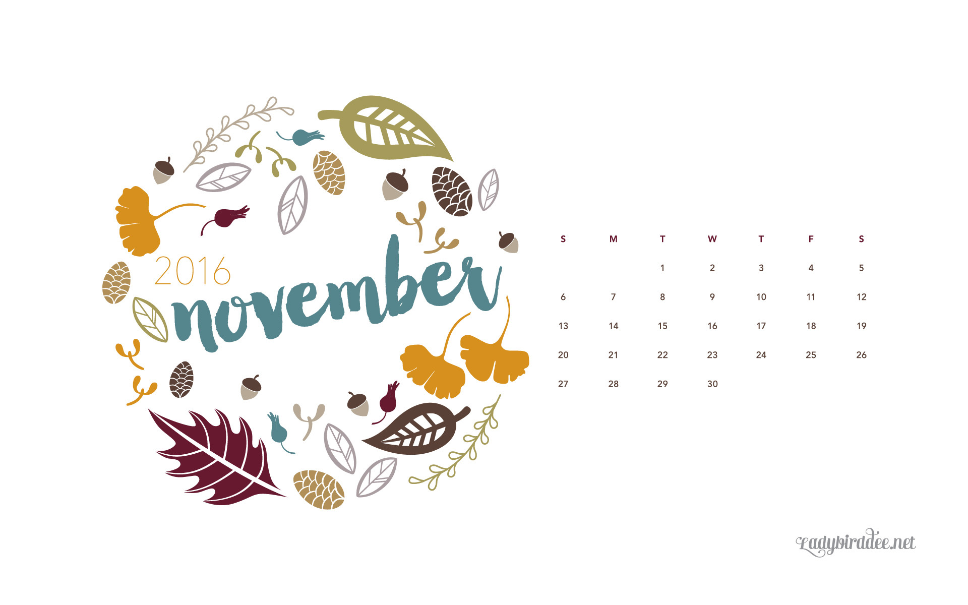November 2016 Wallpaper