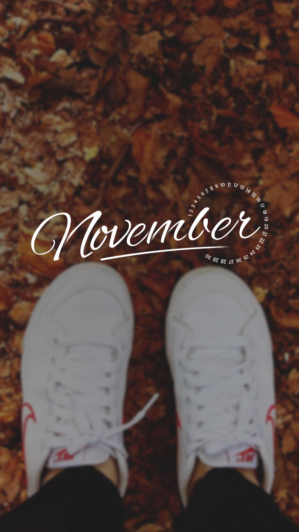 November 2015 Desktop Calendar Wallpaper