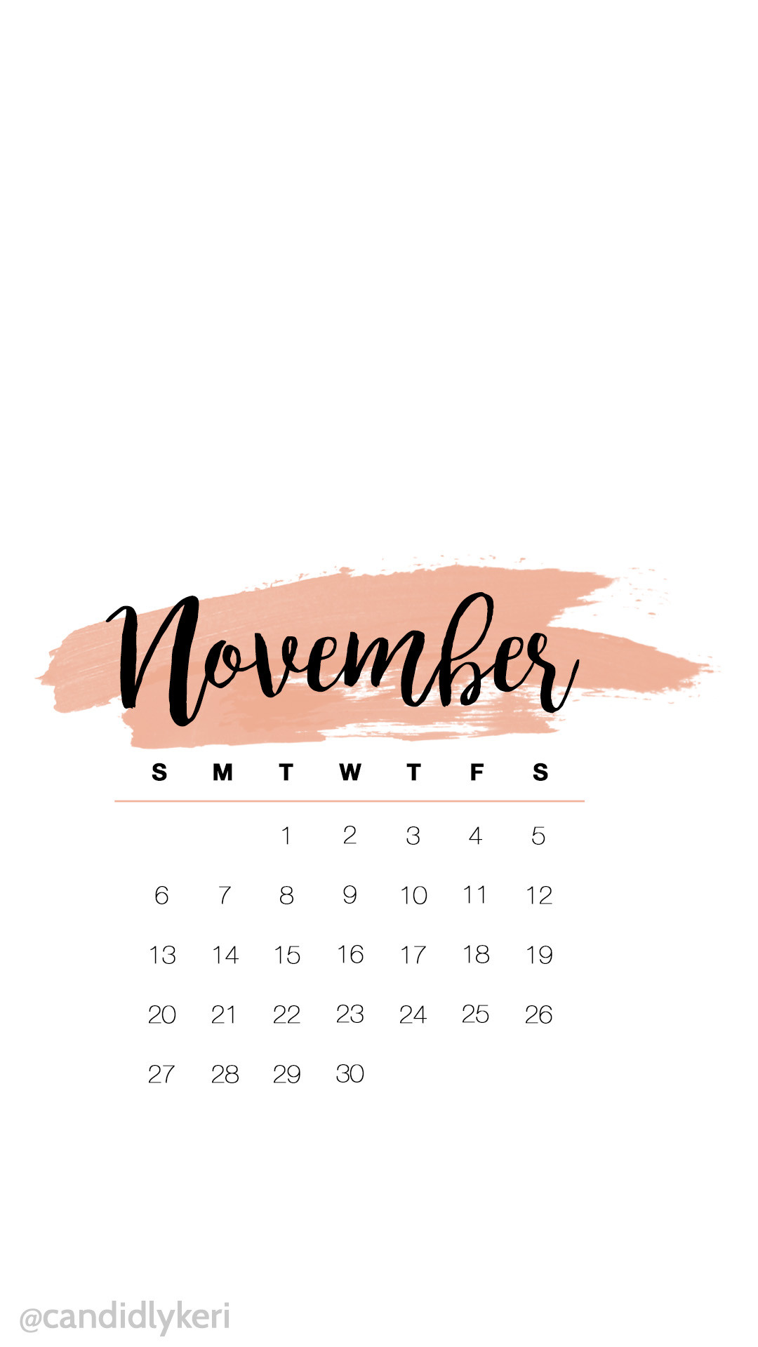 Cute pink watercolor November calendar 2016 wallpaper you can download for  free on the blog!