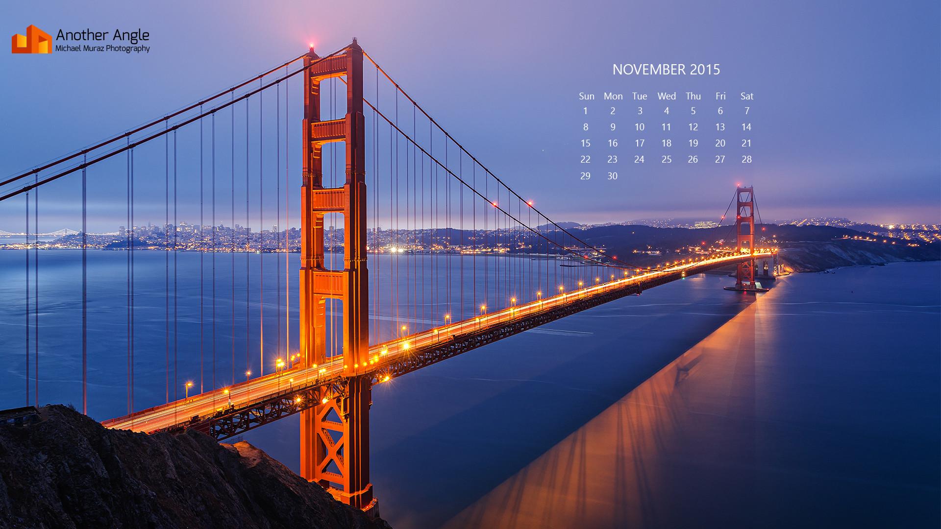 November Wallpaper: Red & Blue