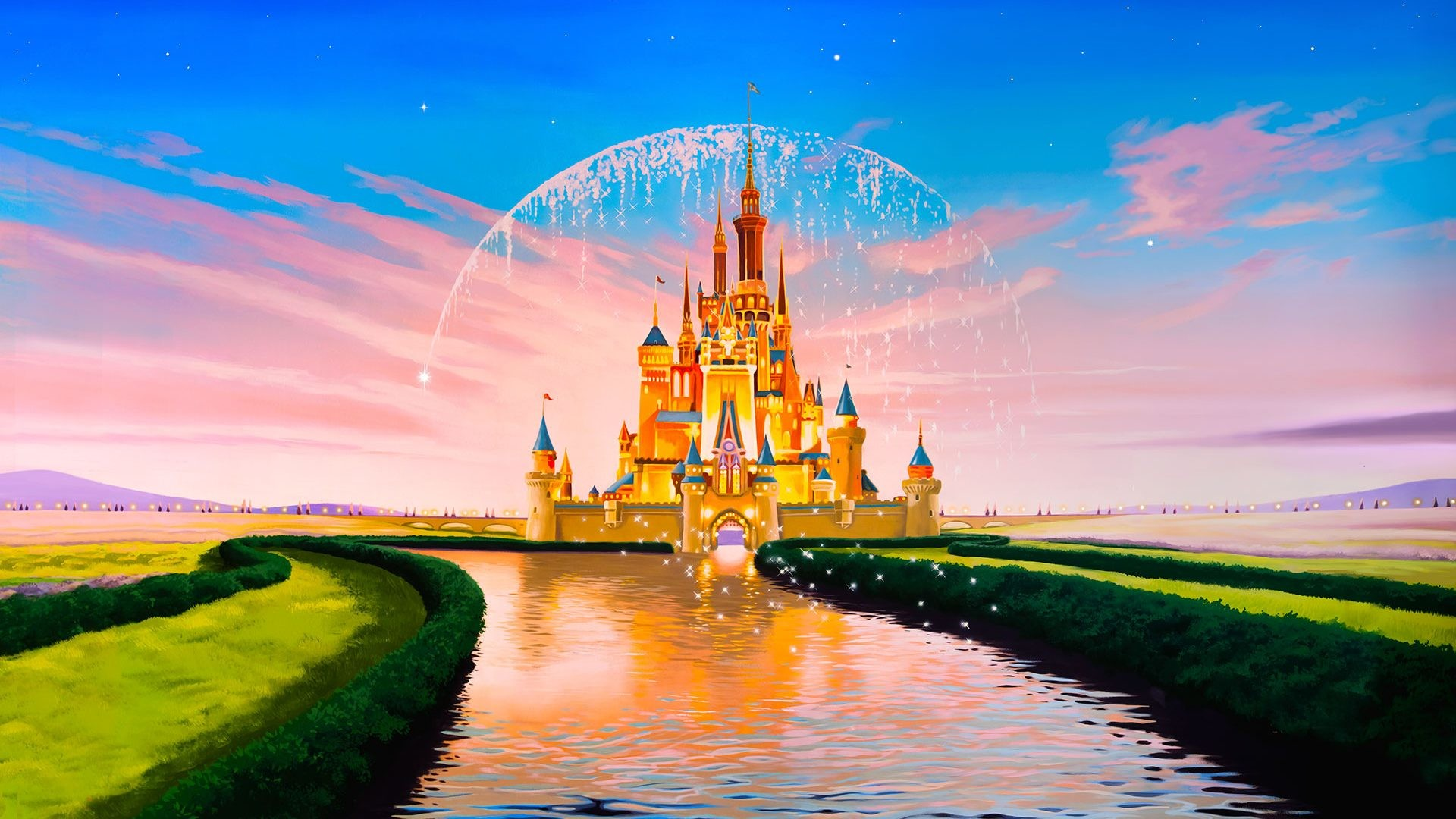 Disney castle wallpaper mobile 1920×1080.
