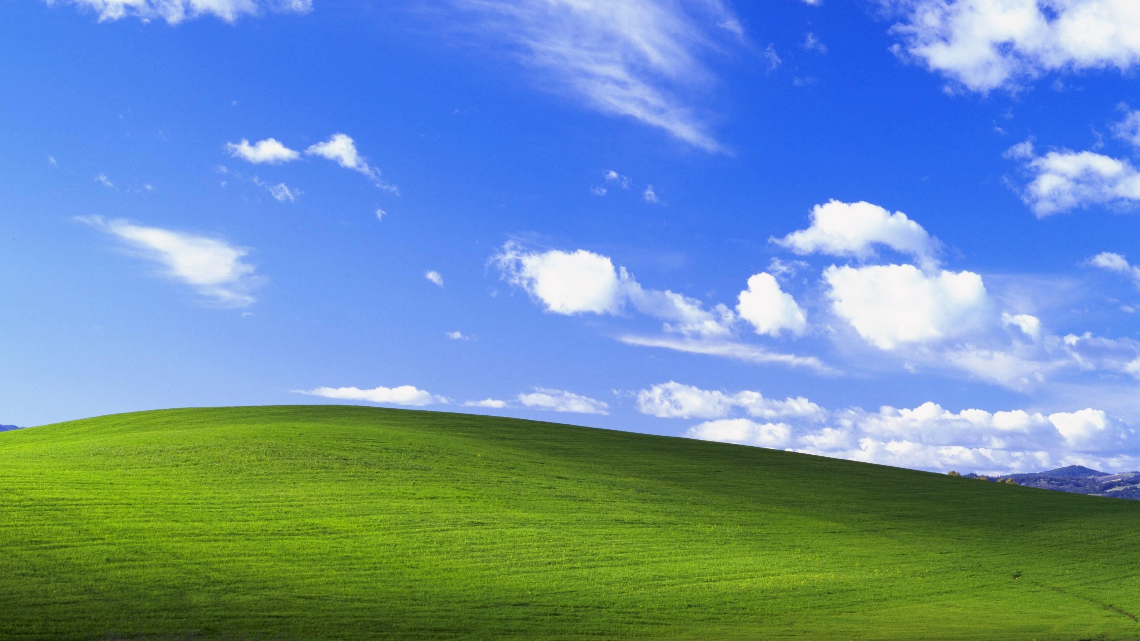 The Windows XP wallpaper at 4K resolution …