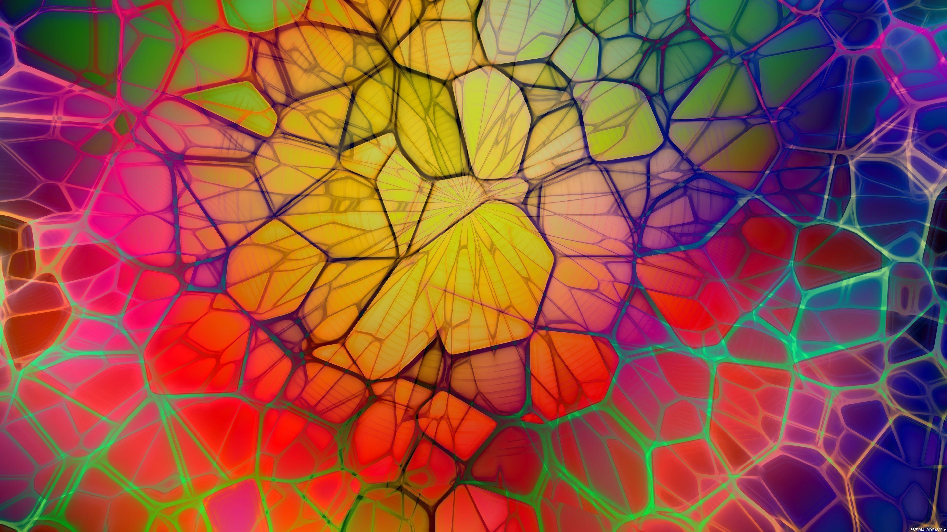 Abstract Colorful Web 4K Ultra HD Wallpaper 3840×2160