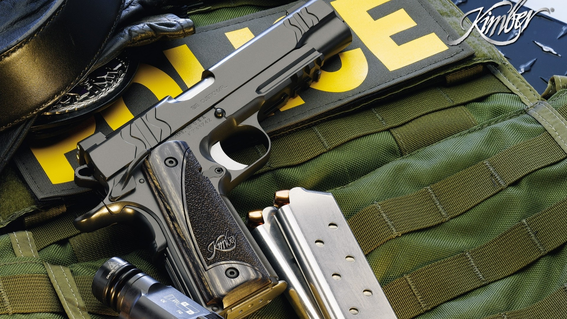 Preview wallpaper police, guns, gun, knife, defense 1920×1080