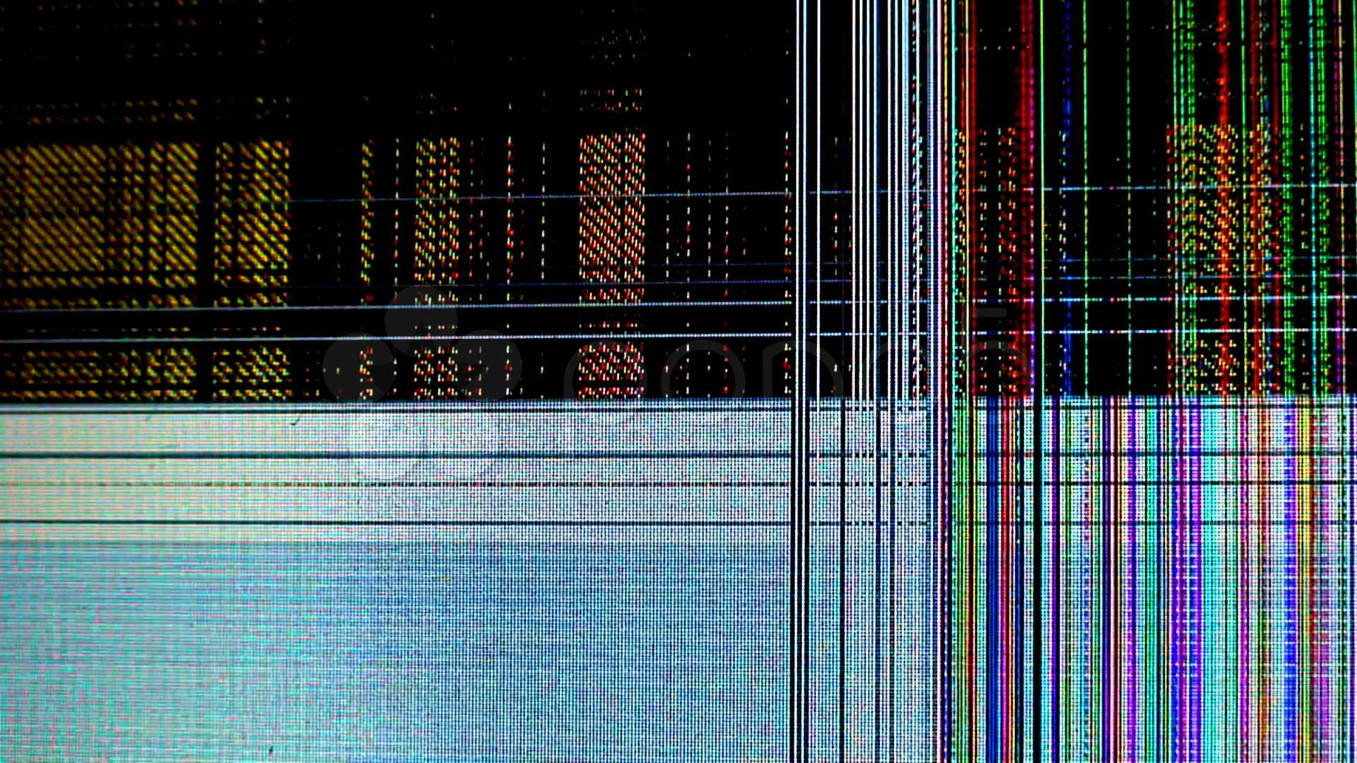 Broken Cracked Lcd Screen Stock Video 591901   HD Stock Footage