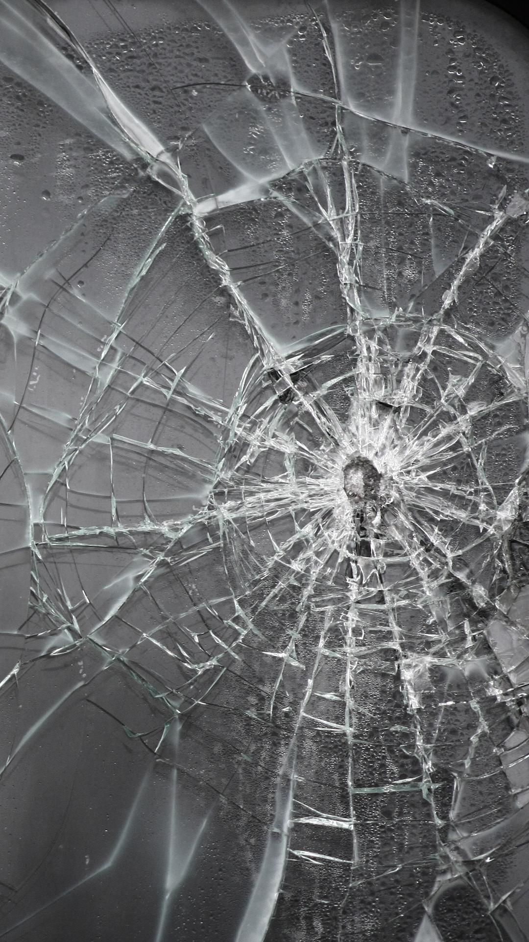 Broken Screen iPhone Wallpaper HD