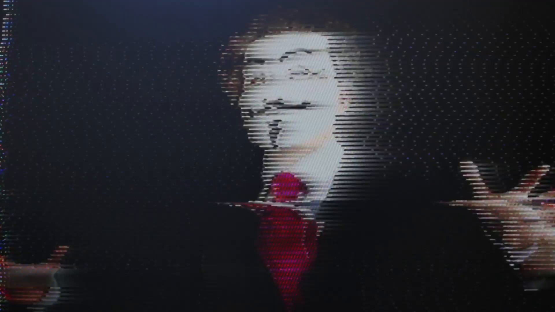 a man with an anonymous v for vendetta mask with intentional broken tv and  video static Motion Background – VideoBlocks