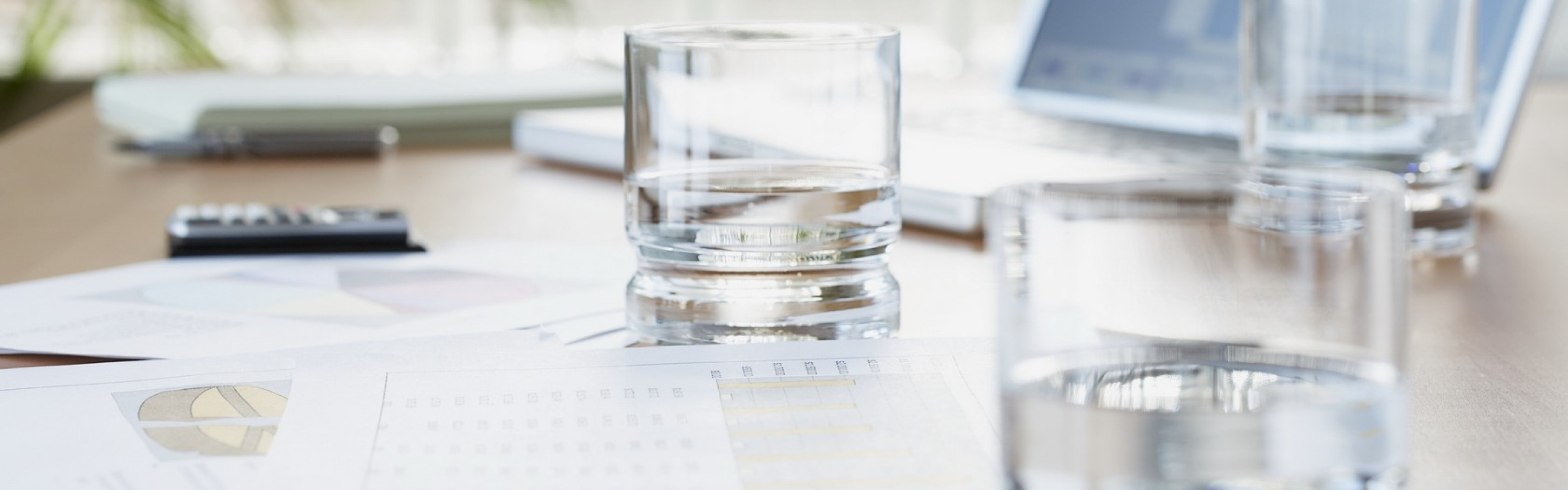 Wallpaper Laptop, Glass, Water, Documents, Business