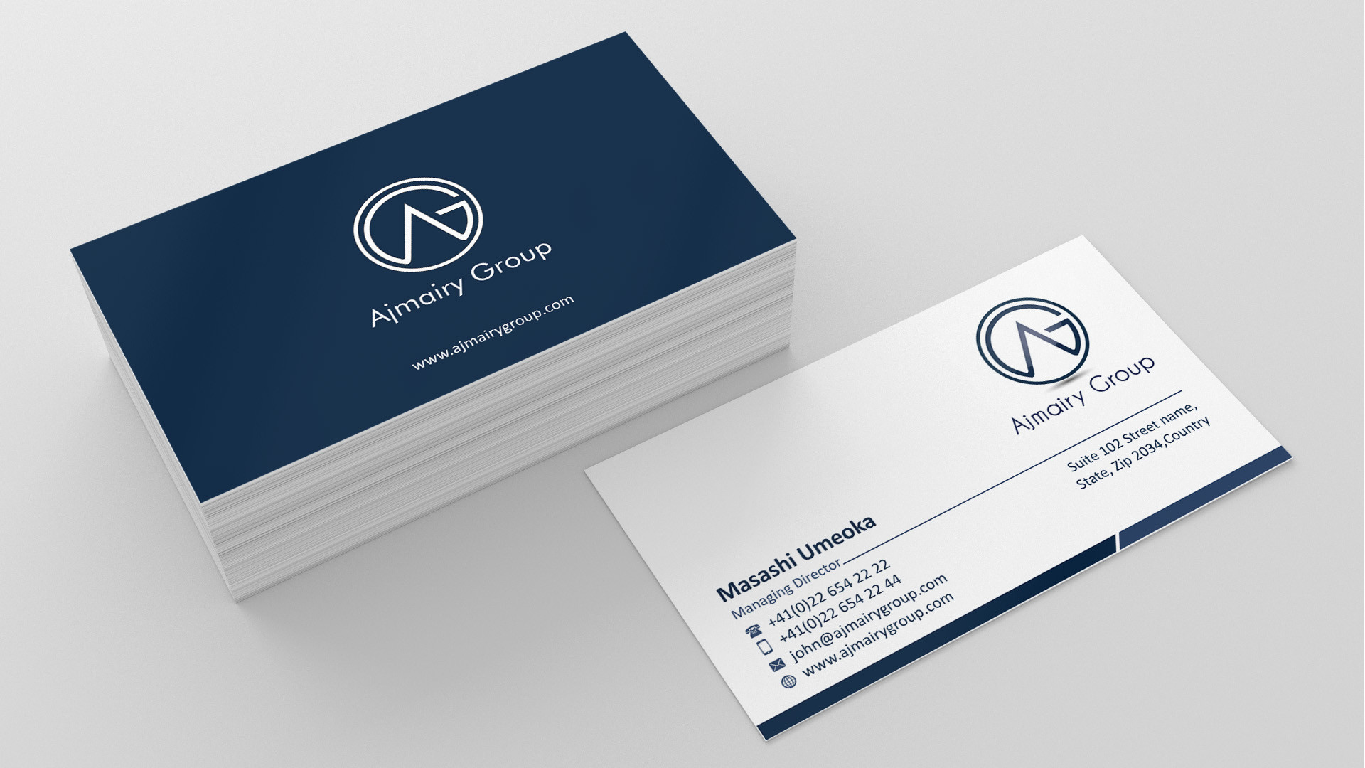 Business Card Design by Muhammad Aslam – Entry No. 22 in the Business Card  Design