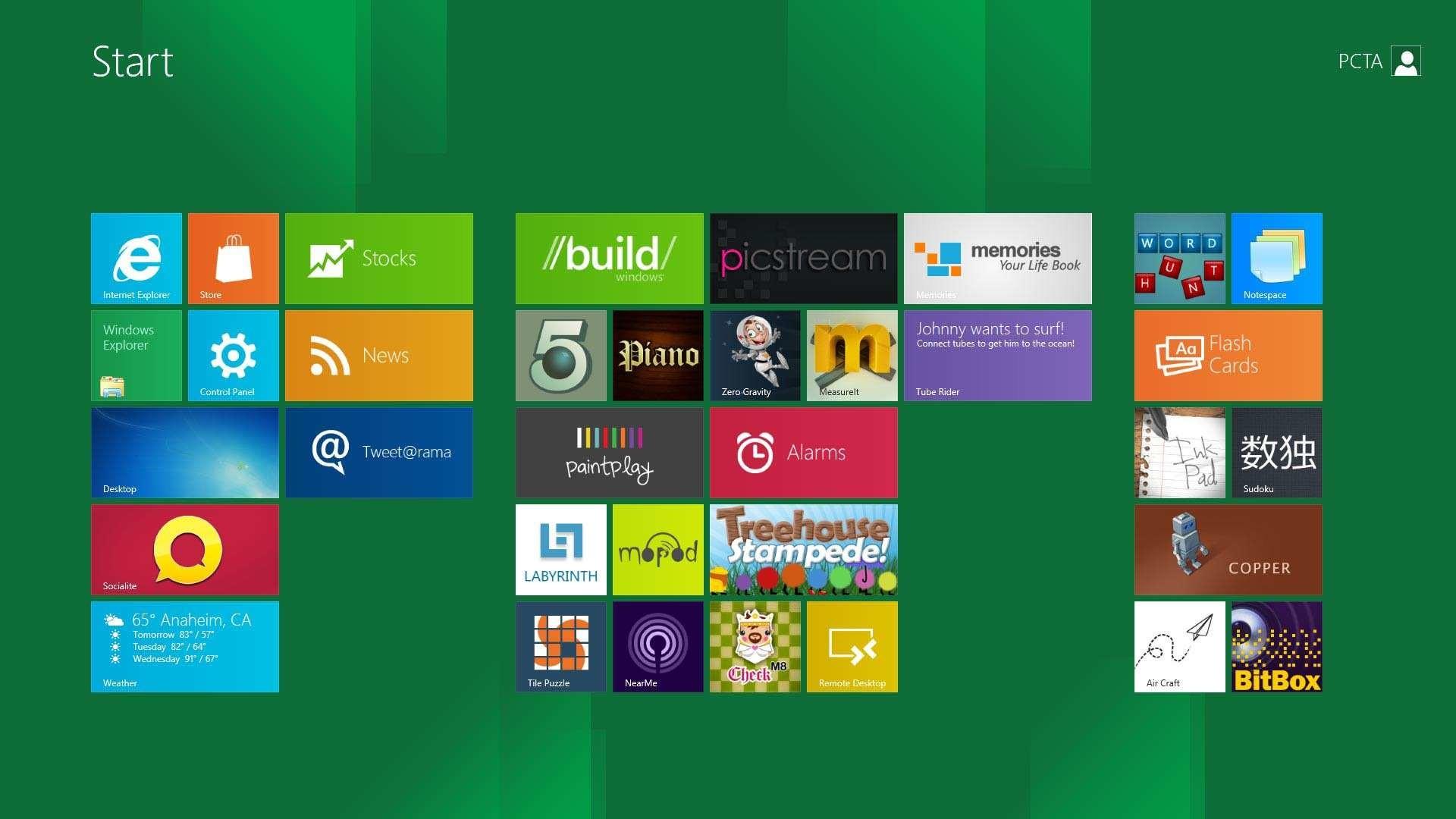 Windows 8 Green Tiles (31 Wallpapers)