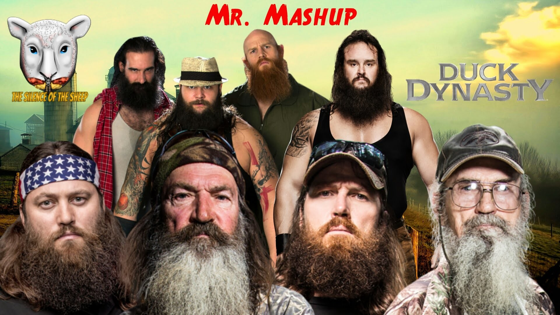"""WWE Mashup: Duck Dynasty and The Wyatt Family """"Sharp Dressed Men Living in  Fear"""""""