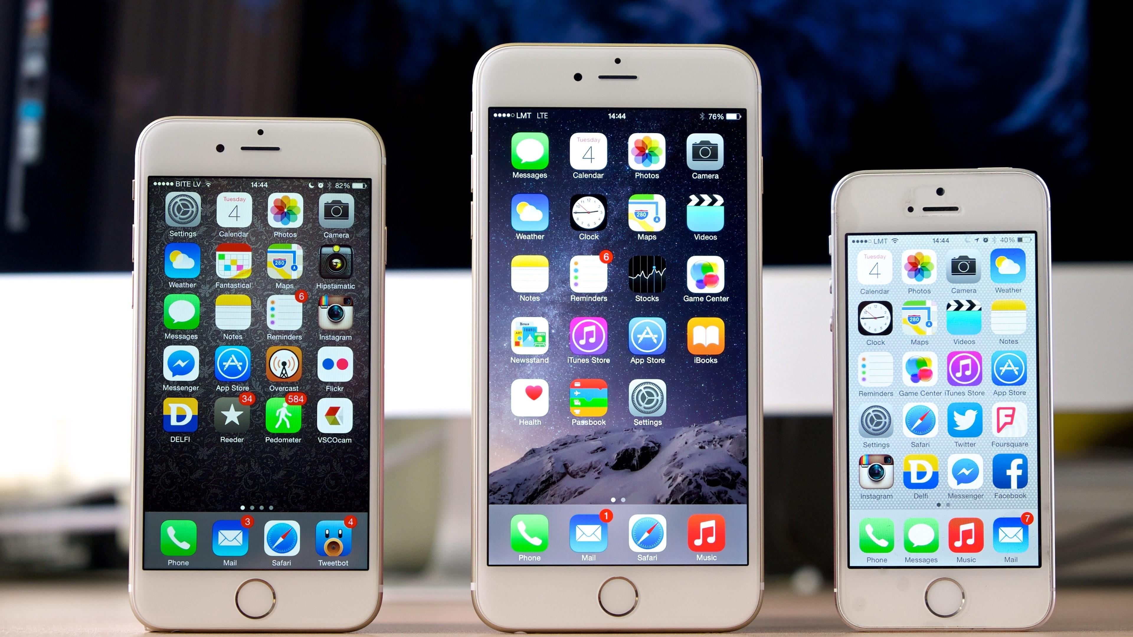 Wallpaper: iPhone 6 vs iPhone 6 Plus vs iPhone 5S