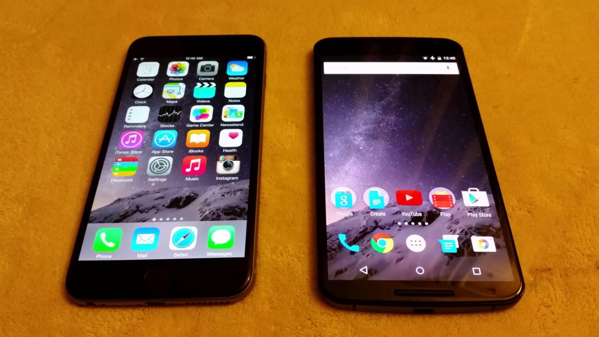 Nexus 6 Vs iPhone 6 plus in 4K