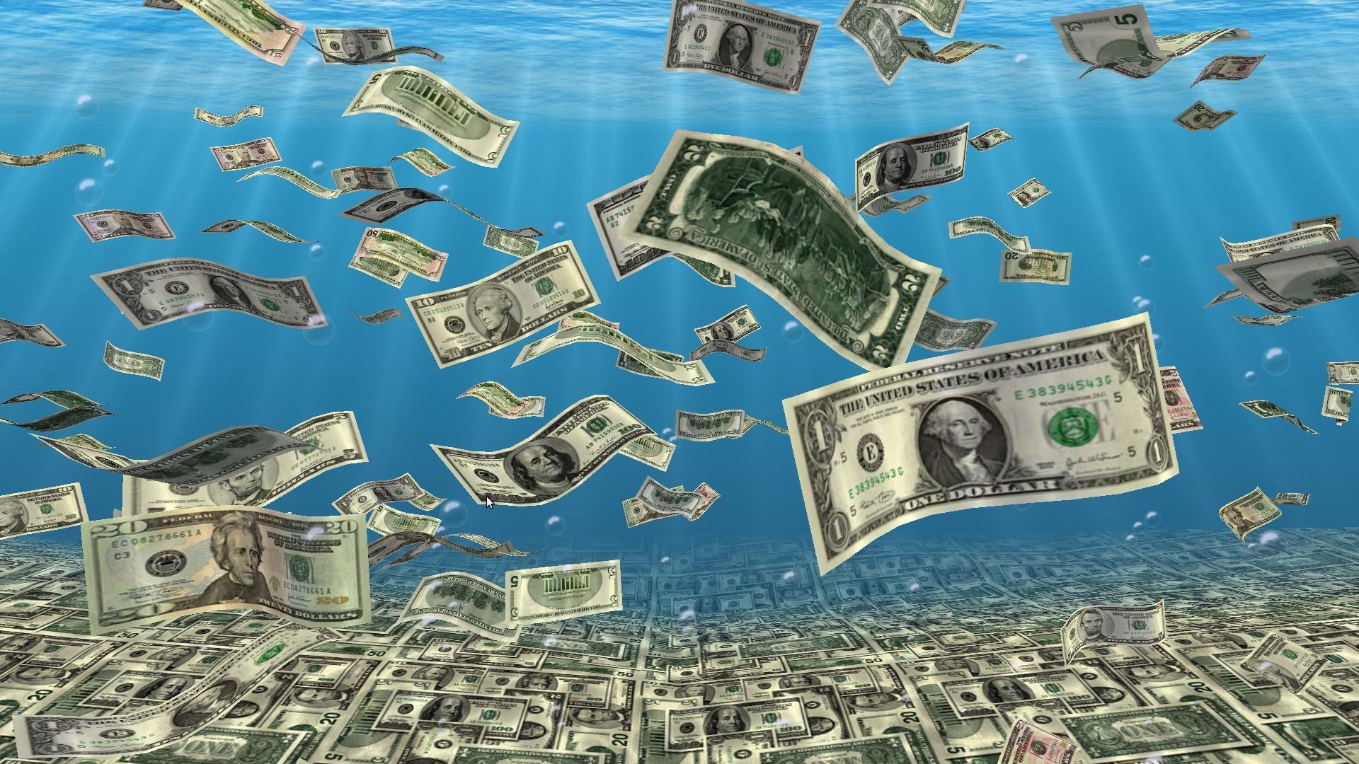 3D Falling Money Wallpaper
