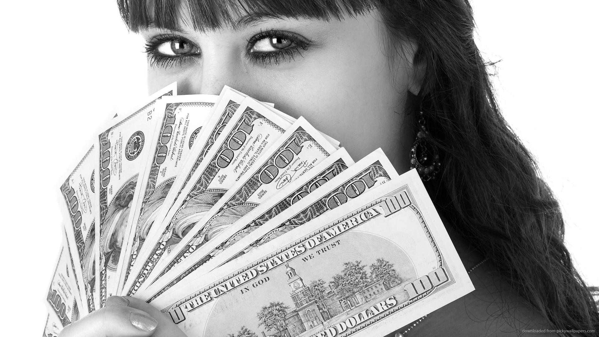 100 dollar bills fan picture