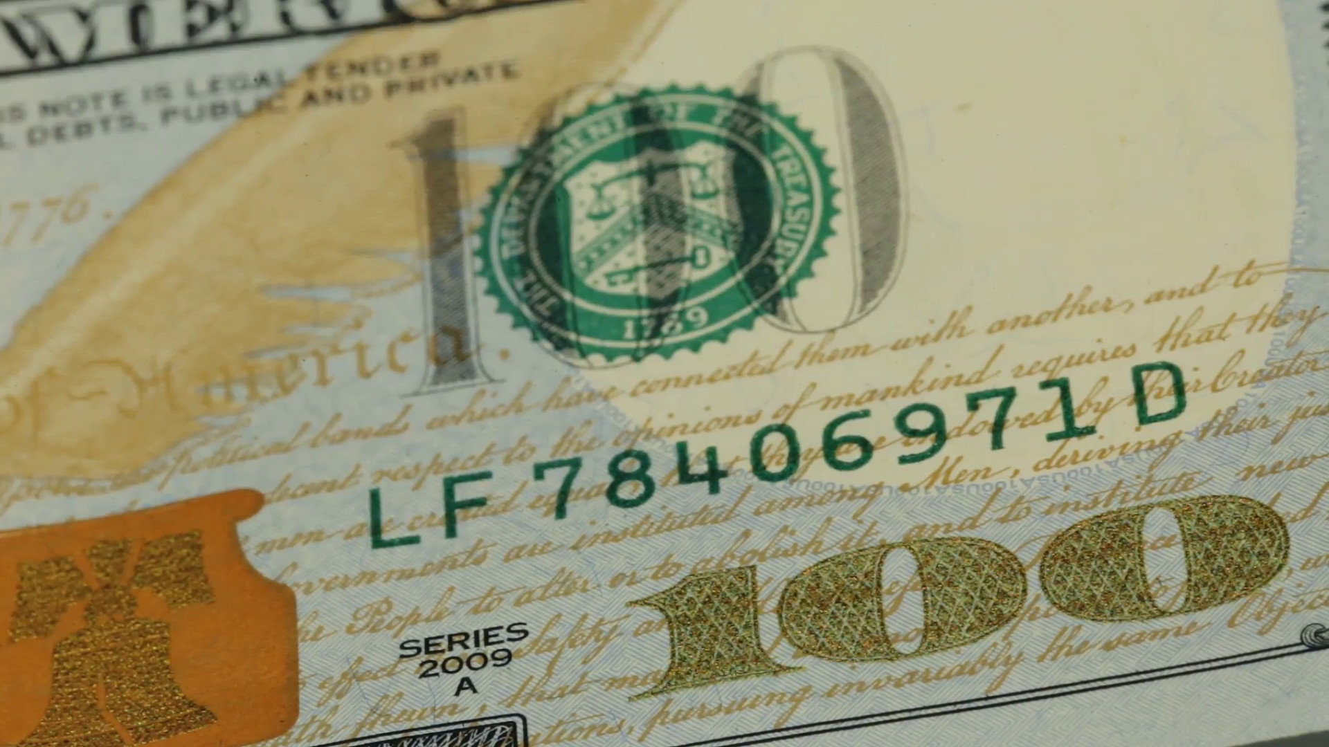 Cash money background. Benjamin Franklin portrait on 100 US dollar bill  close up, the image is rotated Stock Video Footage – VideoBlocks