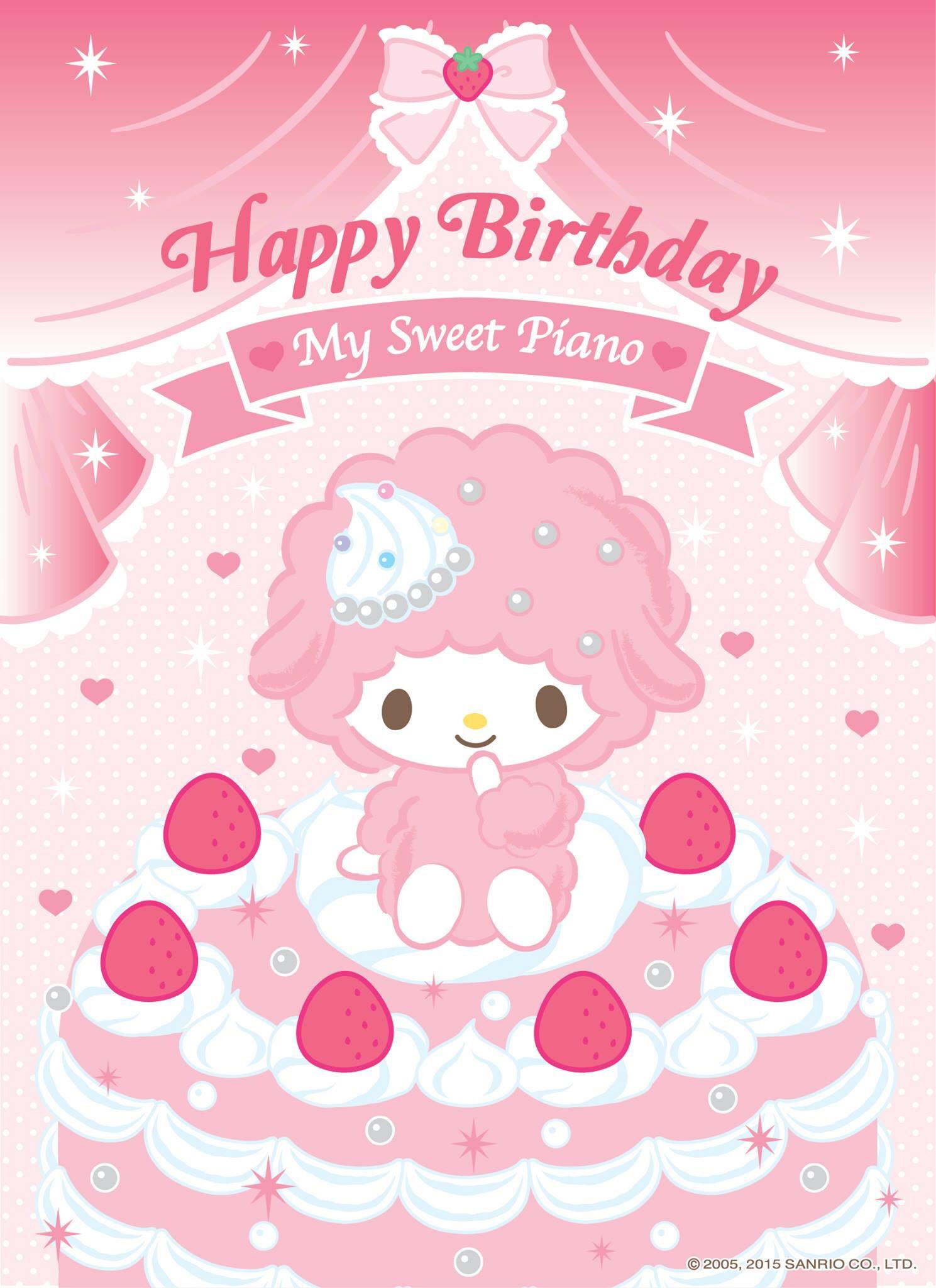 Happy Birthday, My Sweet Piano  (ï¿£3ï¿£) . My MelodySanrioIphone WallpaperHappy  …
