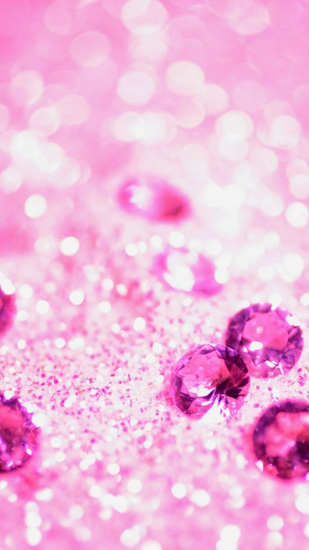 Lots of pink jewelry   Girly glitter iPhone wallpapers