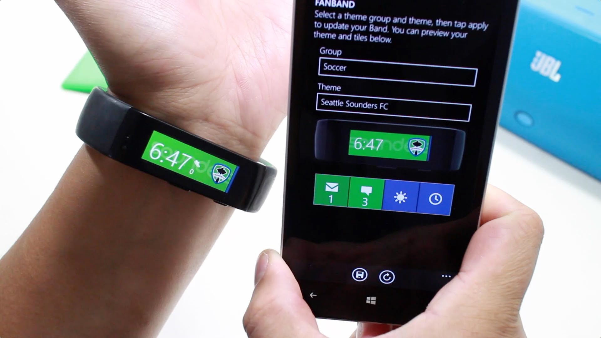 Fanband customizes your Microsoft Band's theme with your favorite sports  team | Windows Central