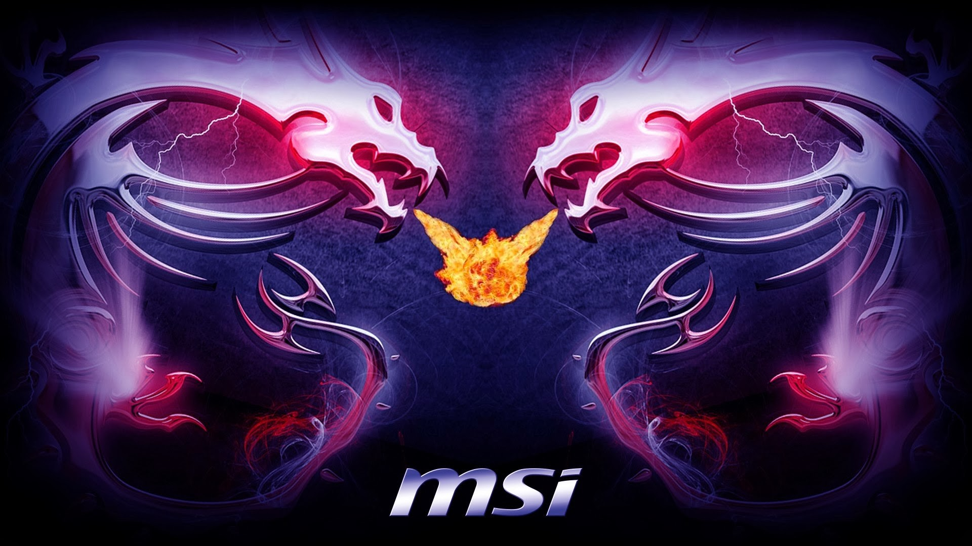 Purple Fire Dragon Msi dragon logo fire breath